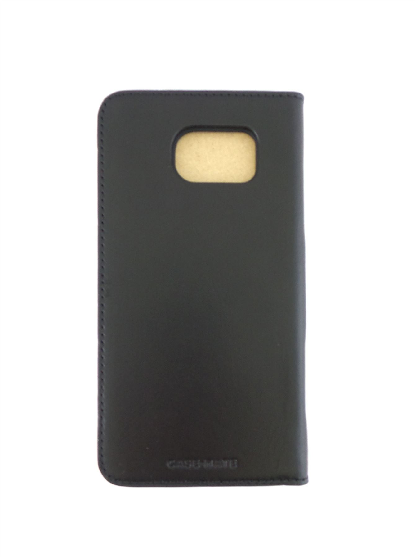 outlet store 3bda6 253c7 Details about Case-Mate Leather Wallet Folio for Samsung Galaxy S6 Black  CM032333