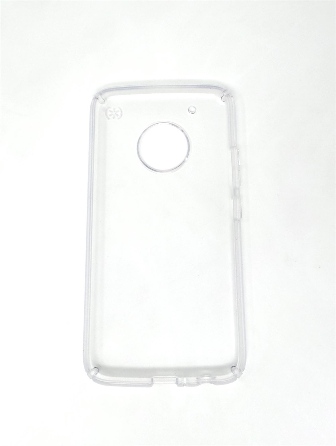 new styles 69bf6 95f1f Details about Speck Presidio CLEAR Case Superior Slim Protection For Moto  G5 Plus 93114-5085