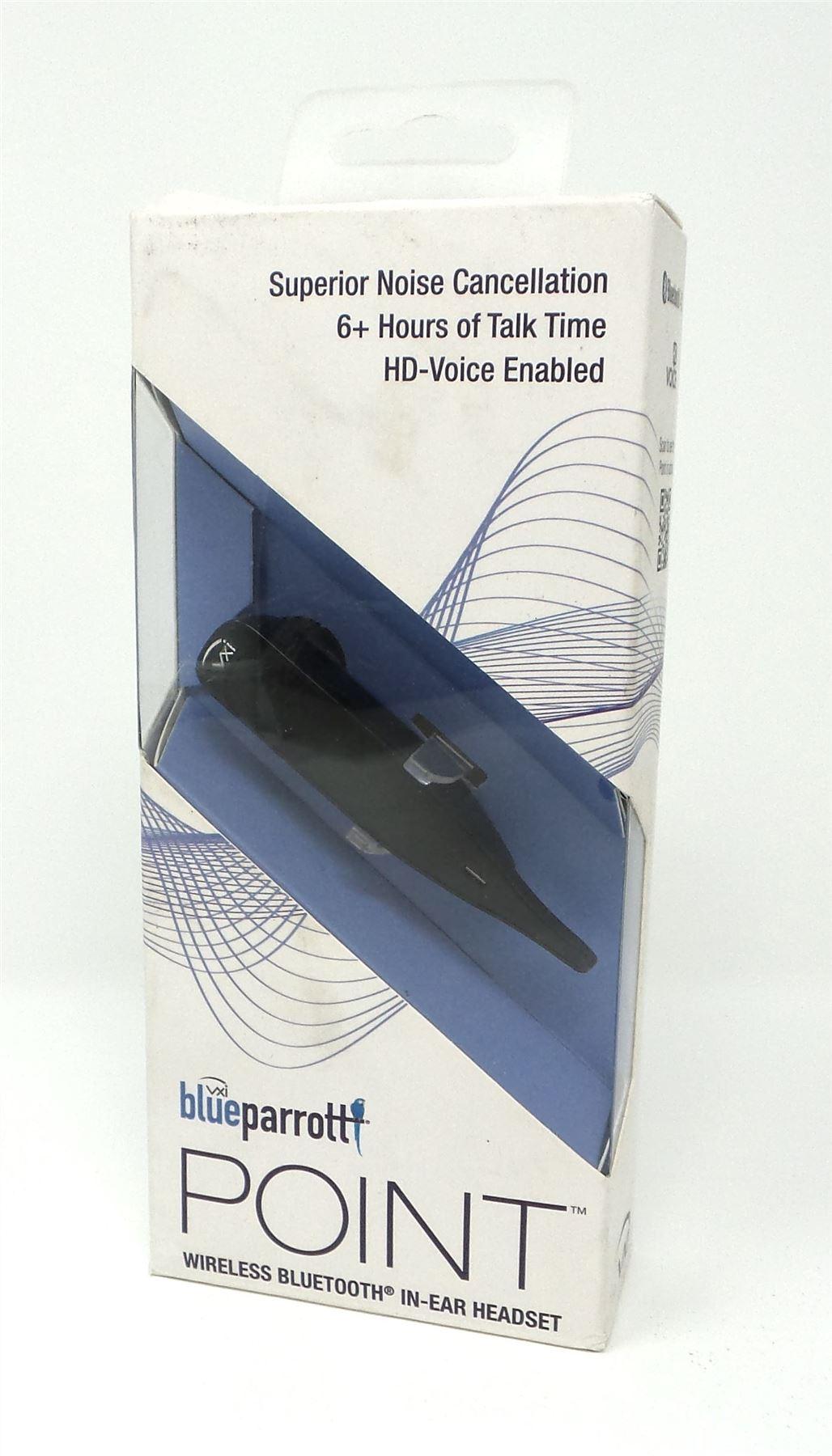 ee4e9585805 Vxi BlueParrott Point Bluetooth Wireless In-Ear Headset Black Noise  Canceling