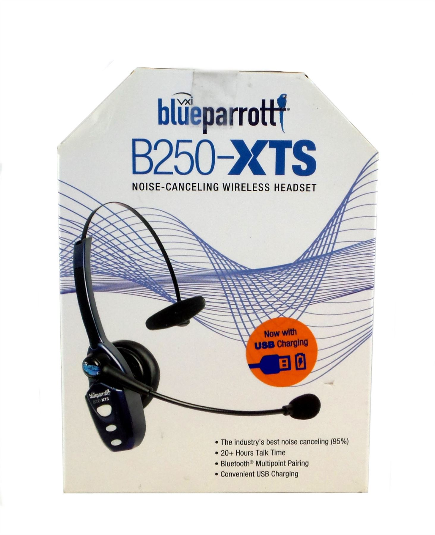 3e4c044f6ac Vxi Blueparrott B250-XTS Bluetooth Wireless Headset with Micro USB Charging  Blue