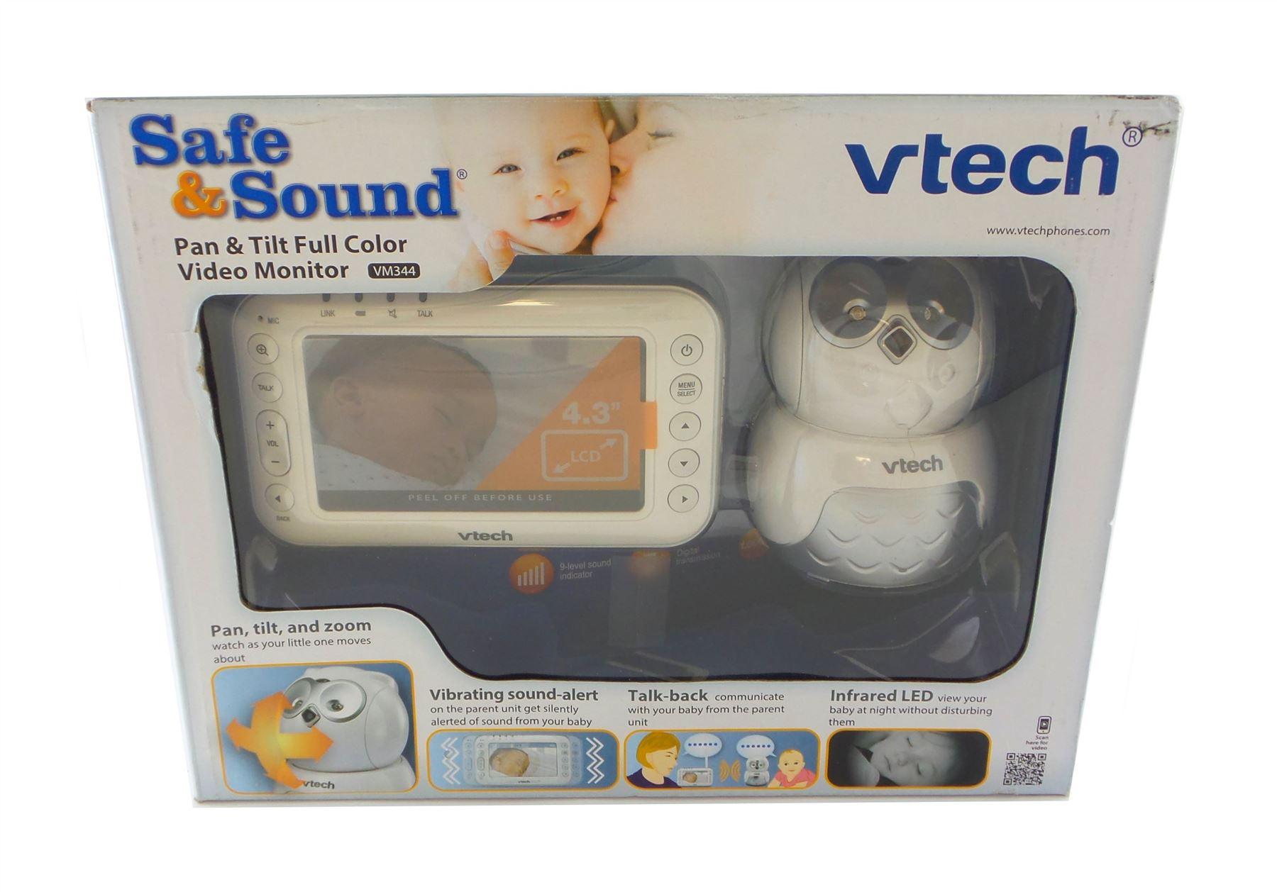 8046698fff3 VTech VM344 Safe   Sound Digital Video Baby Monitor with Pan   Tilt Owl  Camera