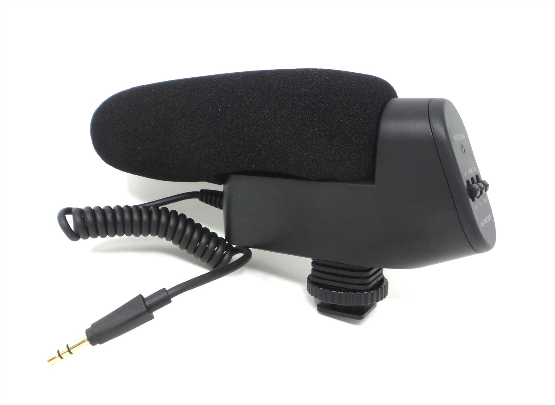 New Pyle PMKSF32 Video//Camera Condenser Shotgun Microphone w//3.5mm Connect GRAY
