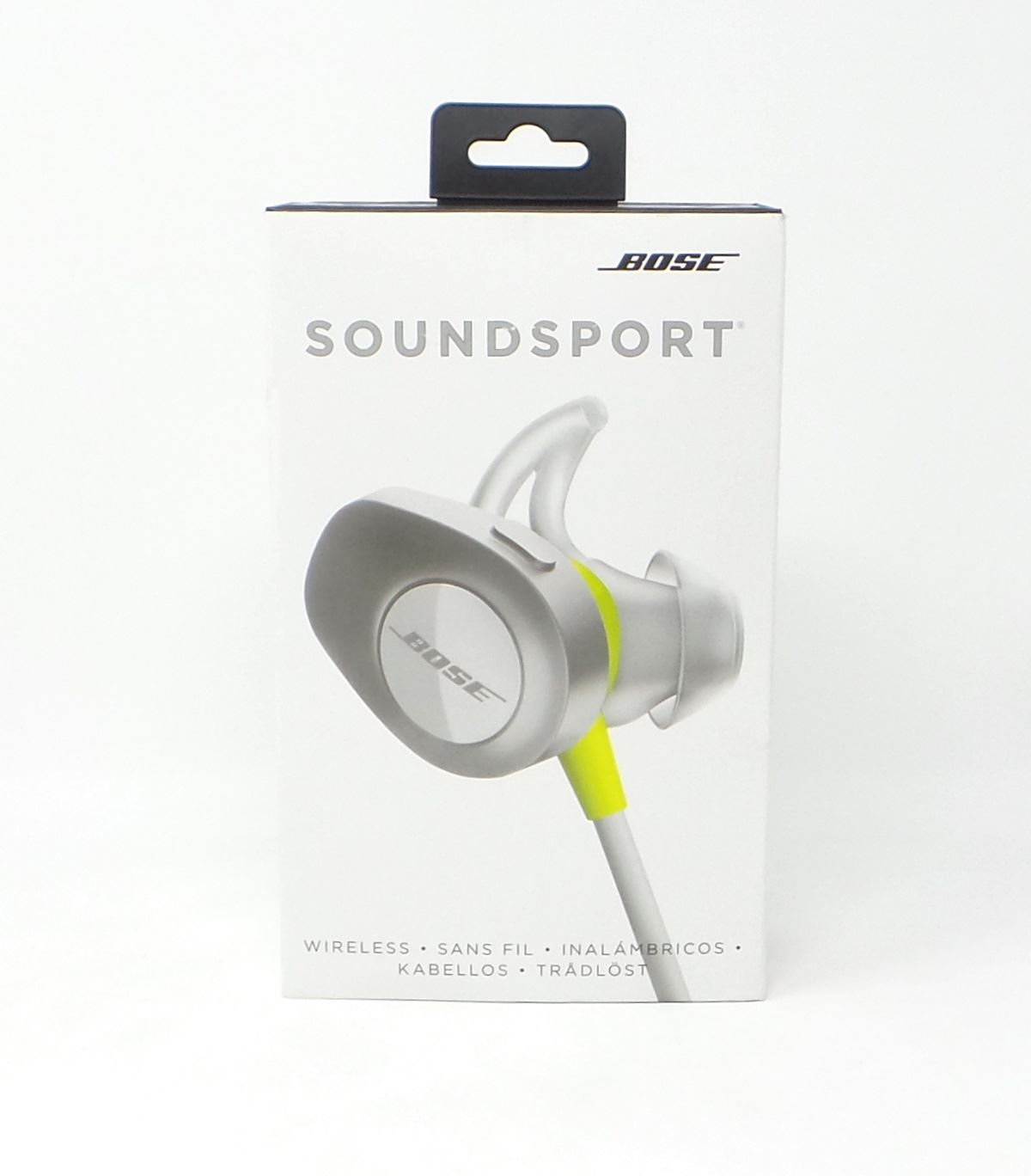 bose soundsport bluetooth wireless in ear headphones 761529 0030 citron ebay. Black Bedroom Furniture Sets. Home Design Ideas