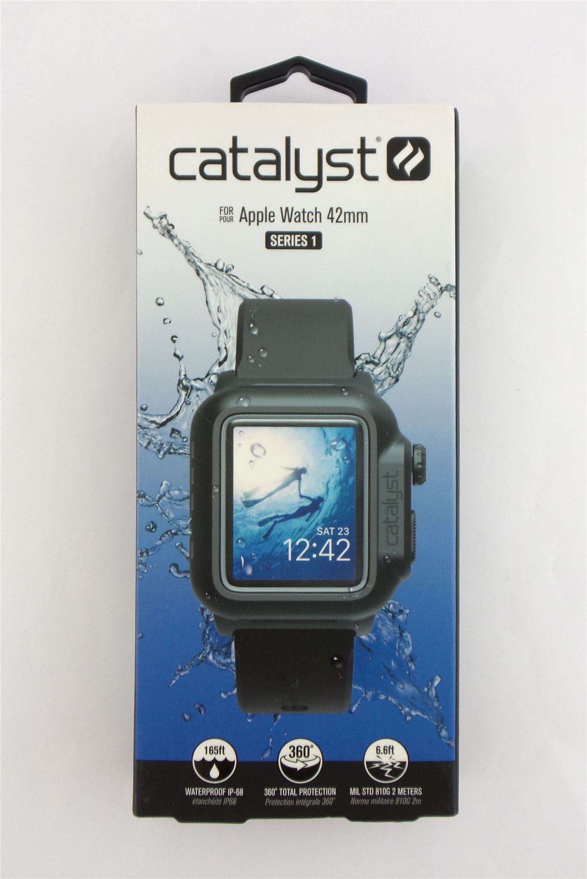 promo code 0fee9 e6f81 Details about Catalyst Waterproof Case for Apple Watch 42mm Series 1  Stealth Black 47131BBR