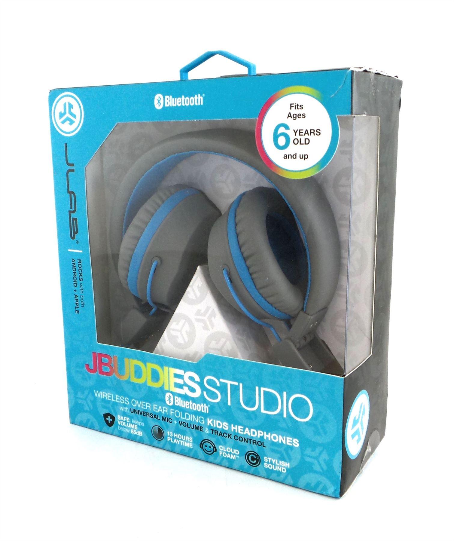 2616ab83dbb JLab Audio JBuddies Studio Bluetooth Wireless Folding Headphones Gray/Blue