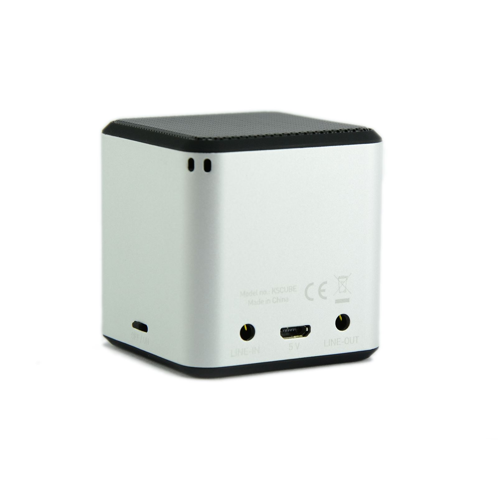 KitSound CUBE Wired Mini Speaker Rechargeable Portable Pocket ...