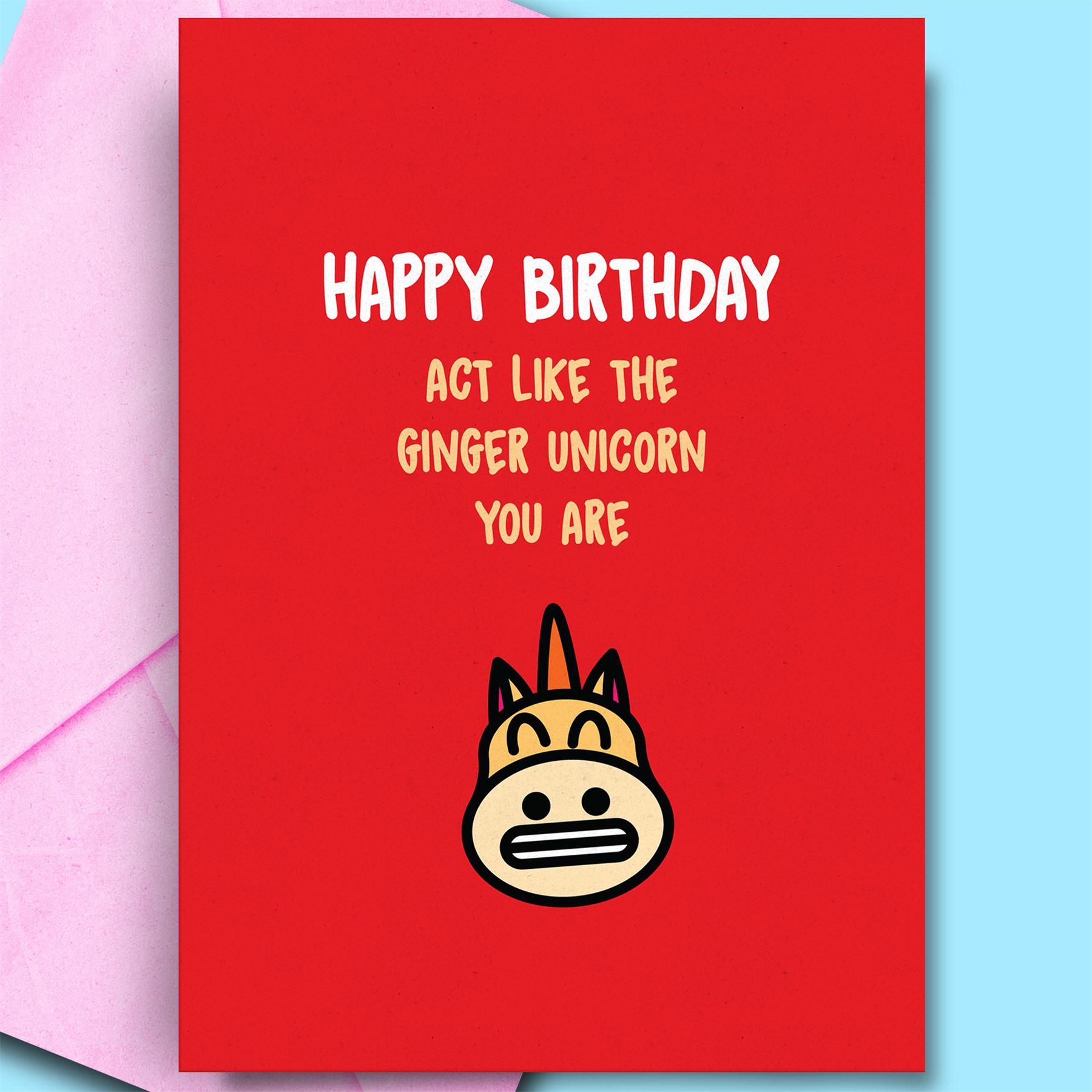 Unhöflich lustig Happy Birthday Karte für Ingwer Haar Freund ...