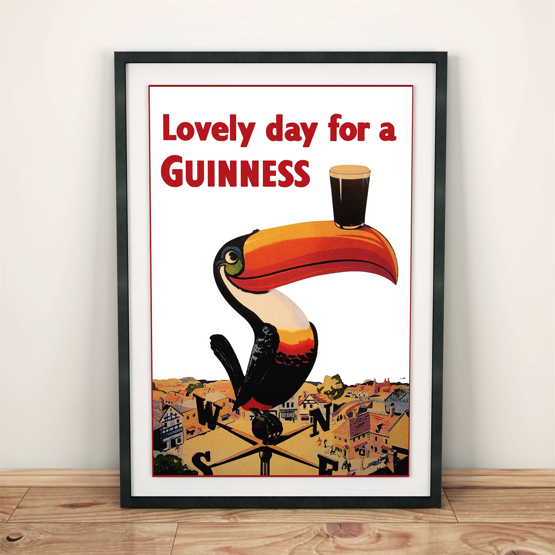 Details about Lovely Day for a Guinness - Beer/Drinks Advertising Vintage  Poster