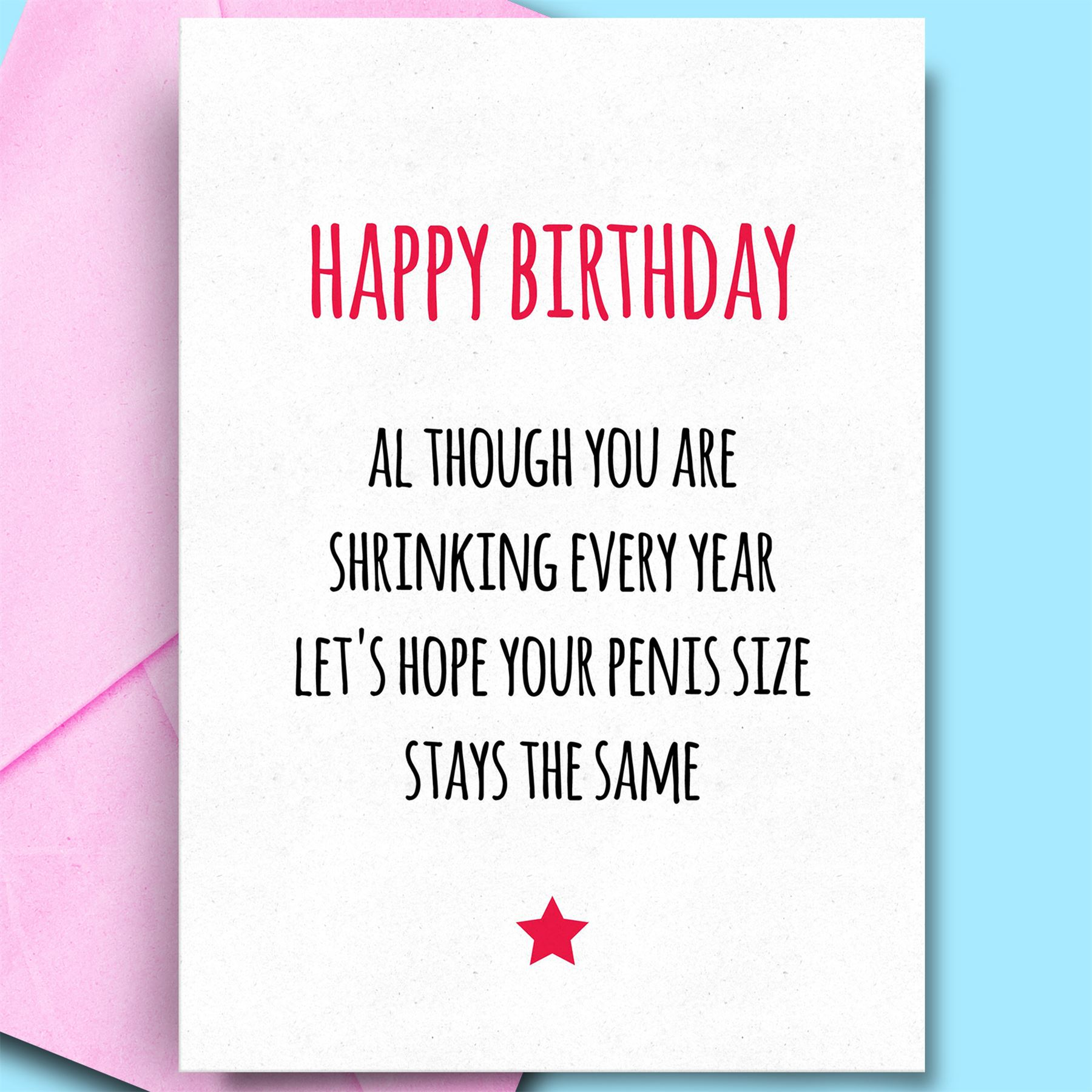 Details about Birthday Card For Husband Adult Fun Funny Cards For Fiance  Partner Hubby