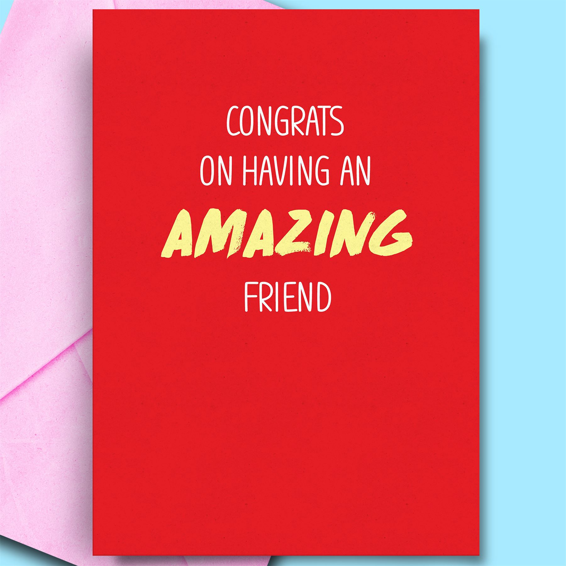 Details About An Amazing Friend Funny Birthday Card For Mate Best BFF Cheeky Pun