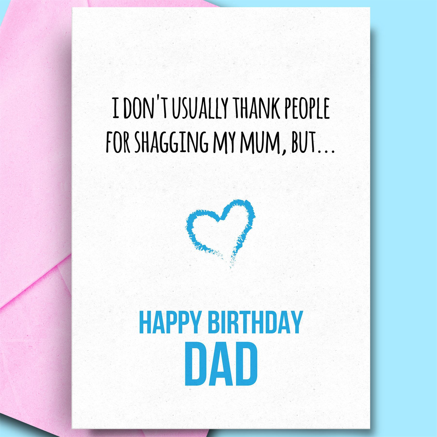Details About Funny Birthday Cards For Dad From Daughter Son Rude Humour Happy Bday