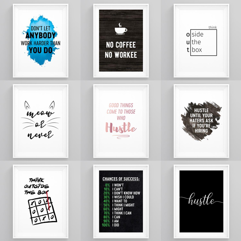 motivational prints entrepreneur quotes framed wall art
