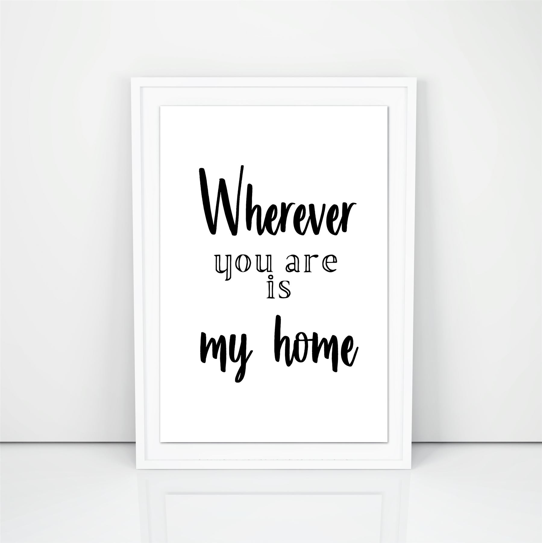 Modern Minimalist Motivational Posters Wherever You Are Is My Home