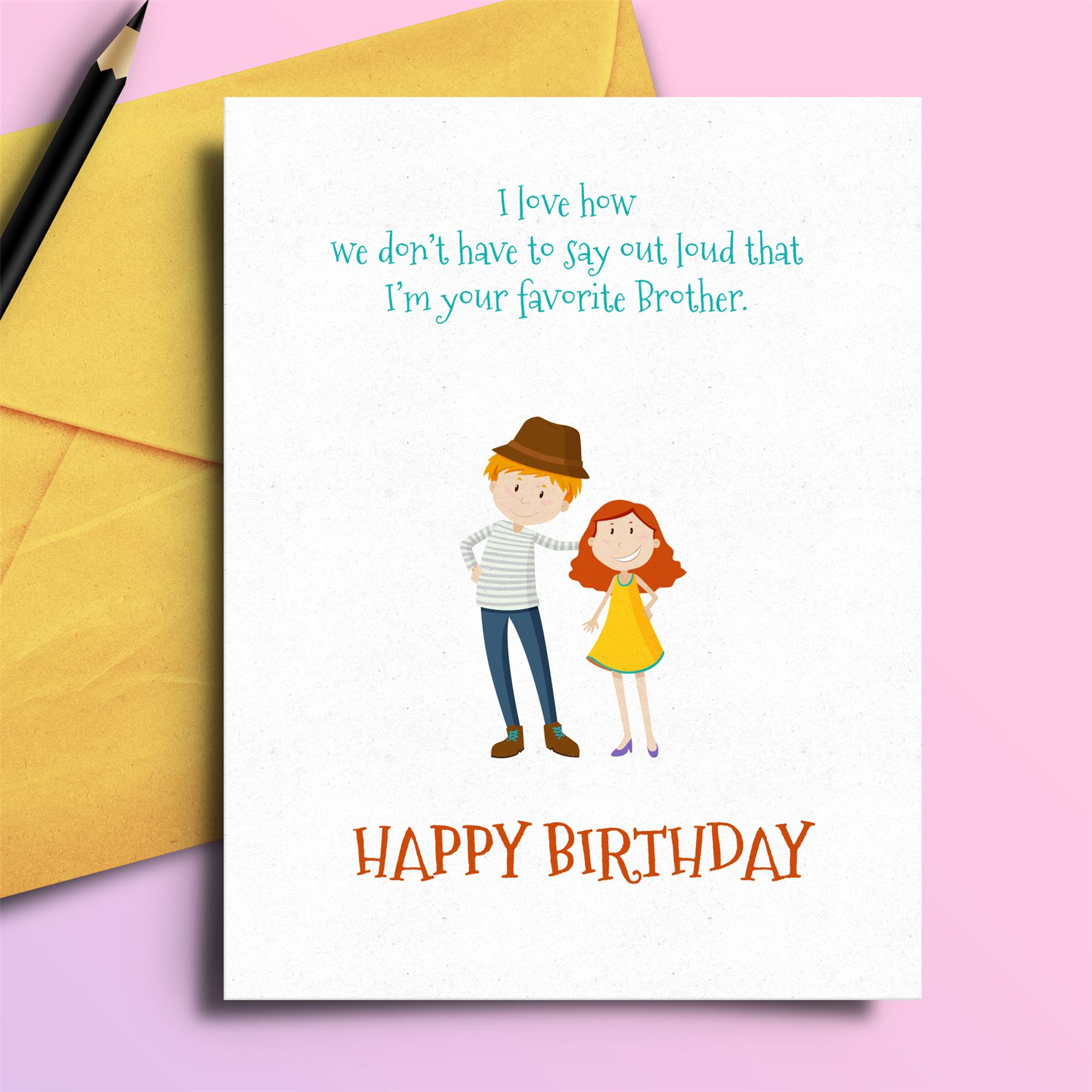 Insulting birthday card sarcasm funny for brother 7435457234235 ebay image is loading insulting birthday card sarcasm funny for brother m4hsunfo