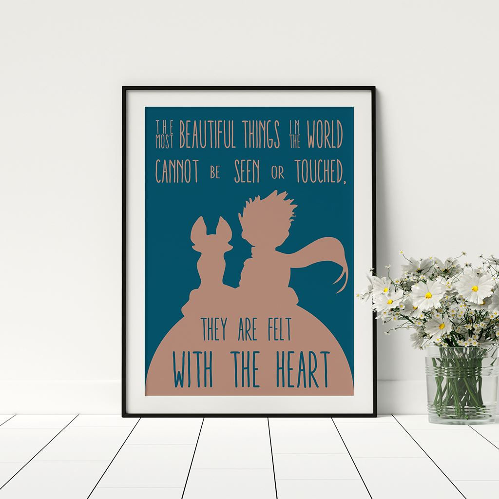 The Most Beautiful Things Poster Kids Room The Little Prince