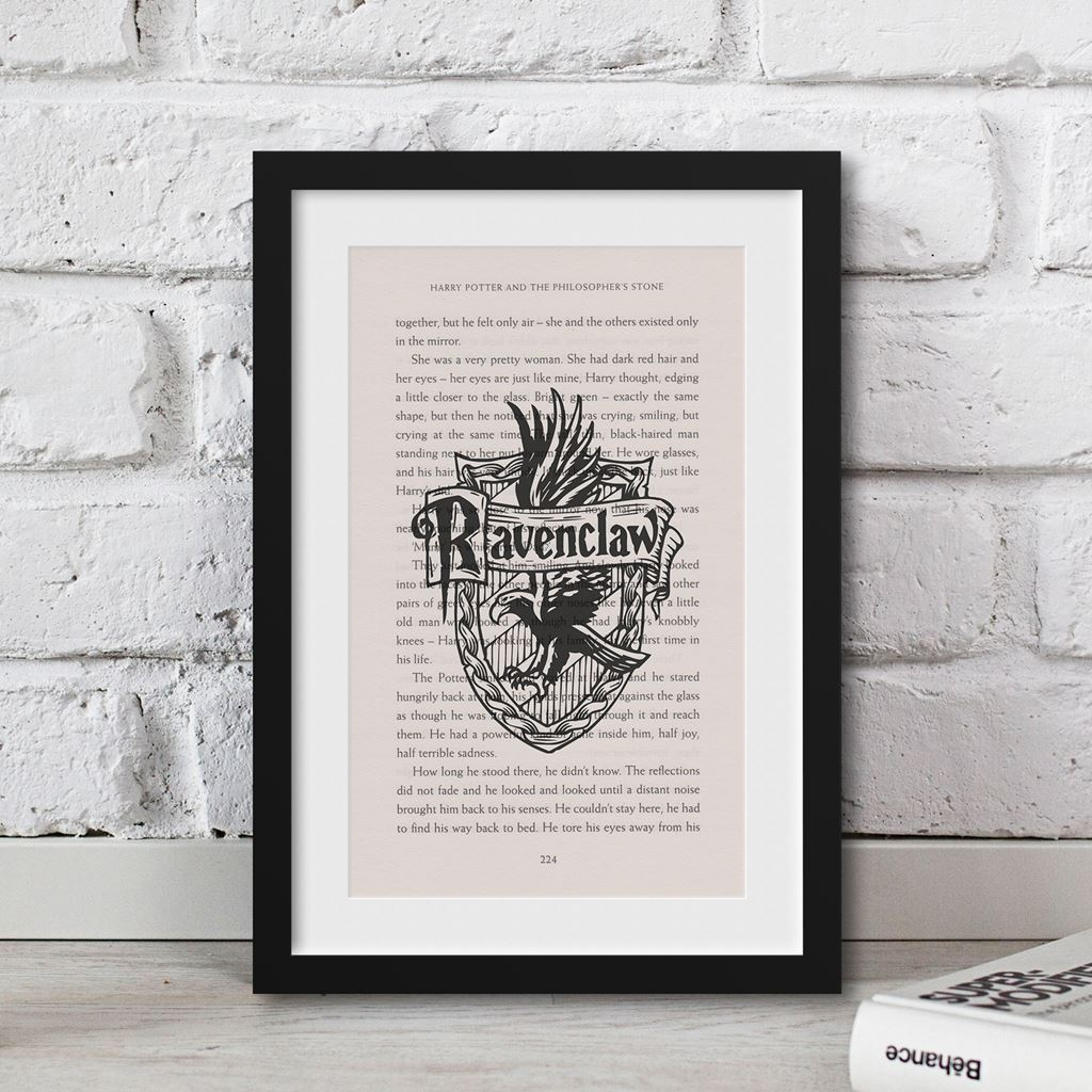Art Print Harry Potter Ravenclaw Print Book Page from Philosopher Stone poster