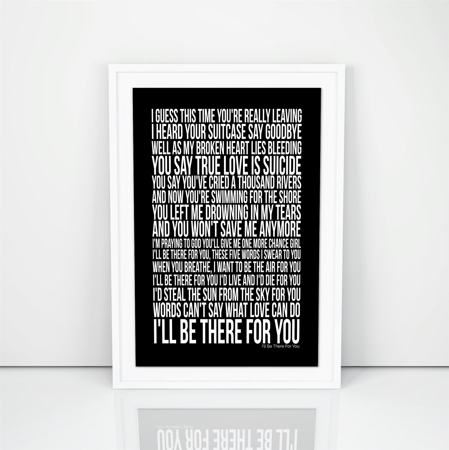 Bon Jovi I\'ll Be There For You Song Lyrics Poster First Dance ...