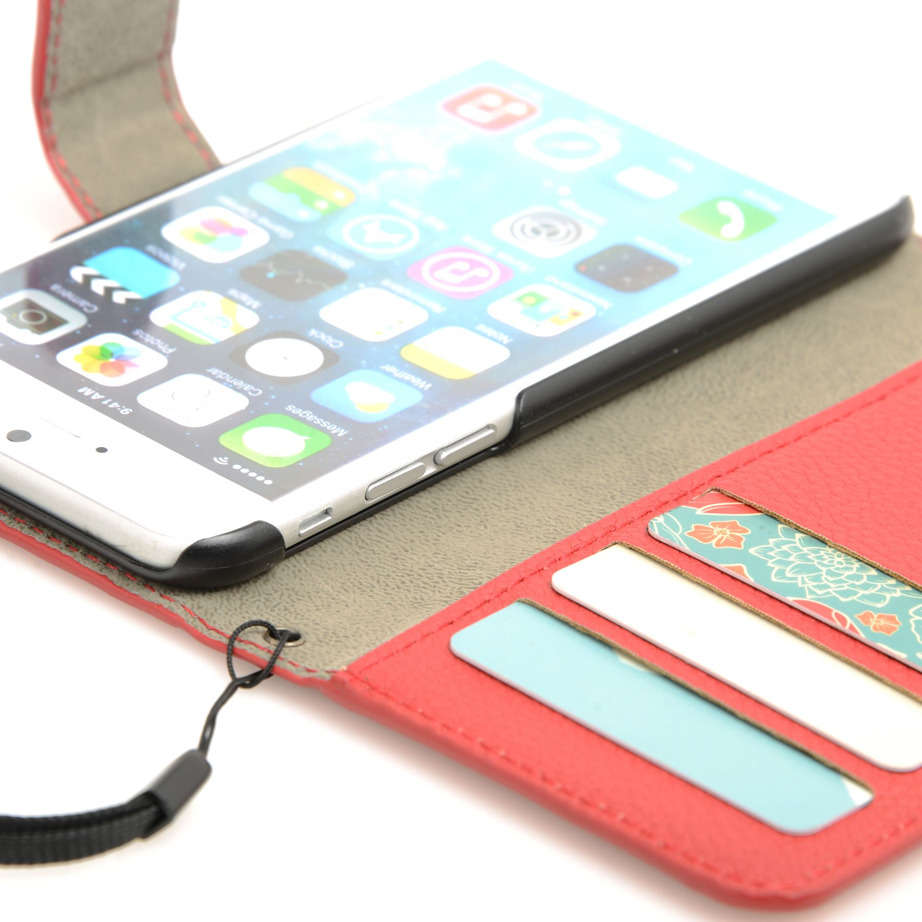 thumbnail 36 - For Apple iPhone 6s 6 Case Premium Textured Leather Wallet Madcase Cover