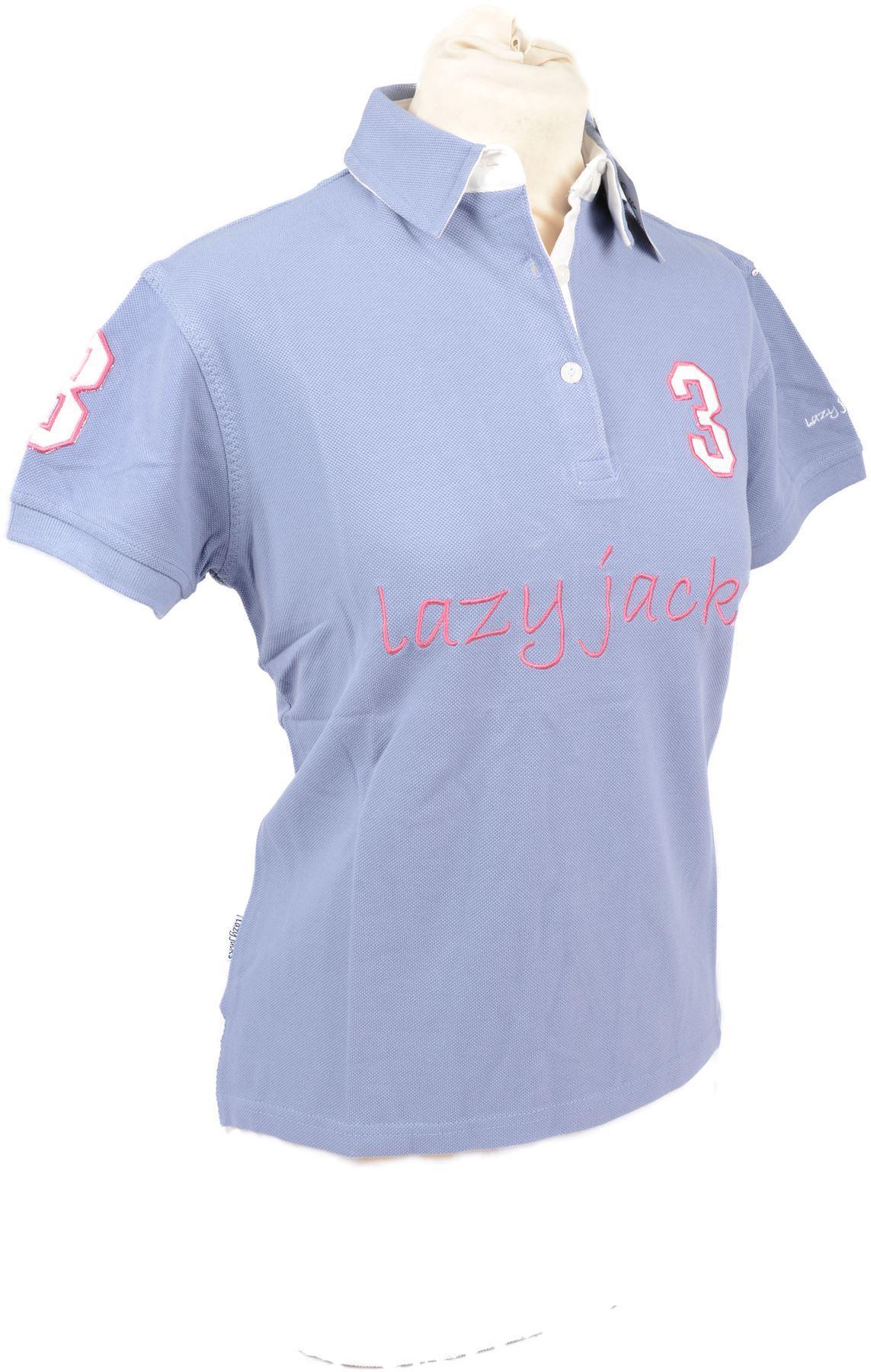 Brand New Lazy Jacks Ladies Plain Polo Shirt Top Cotton
