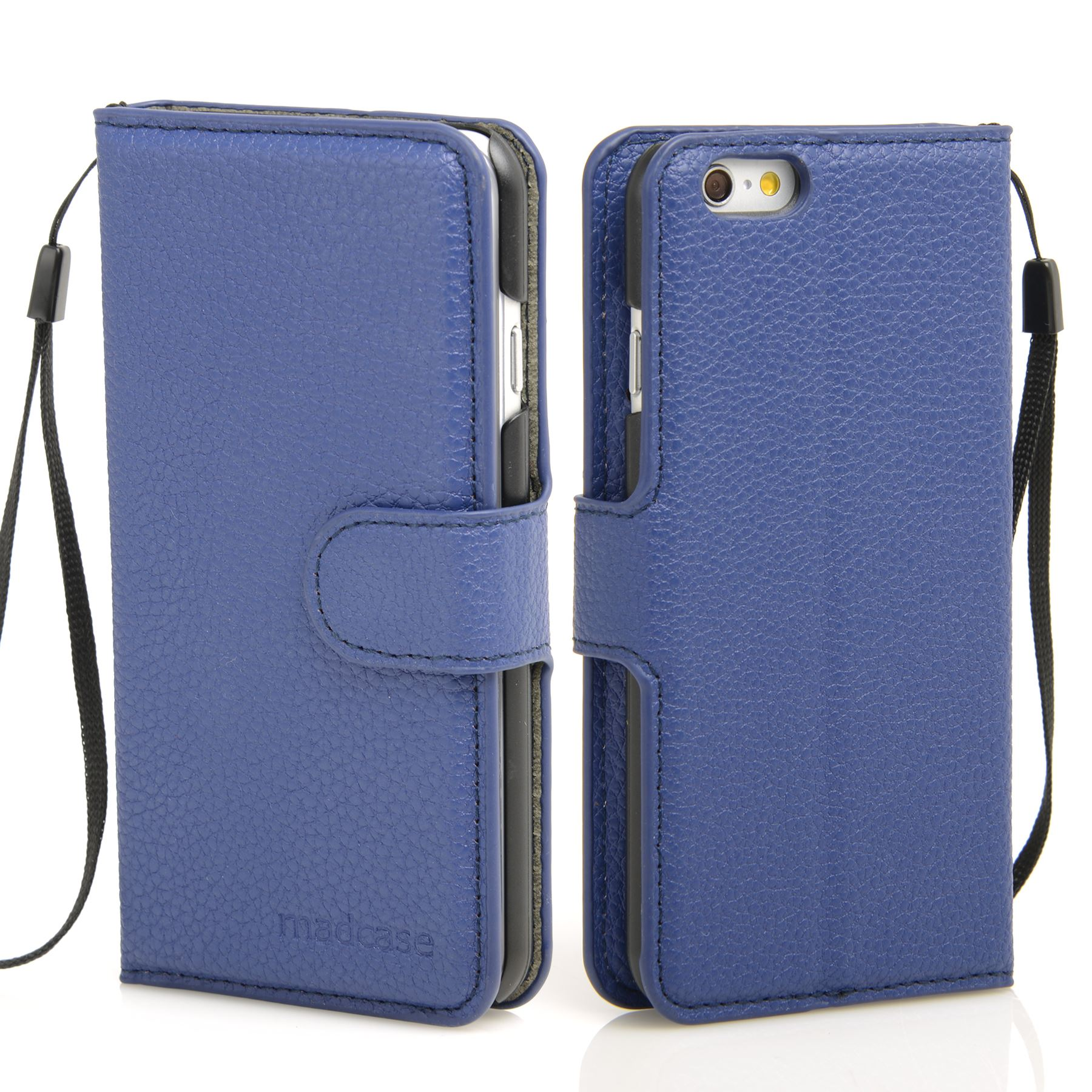 thumbnail 15 - For Apple iPhone 6s 6 Case Premium Textured Leather Wallet Madcase Cover