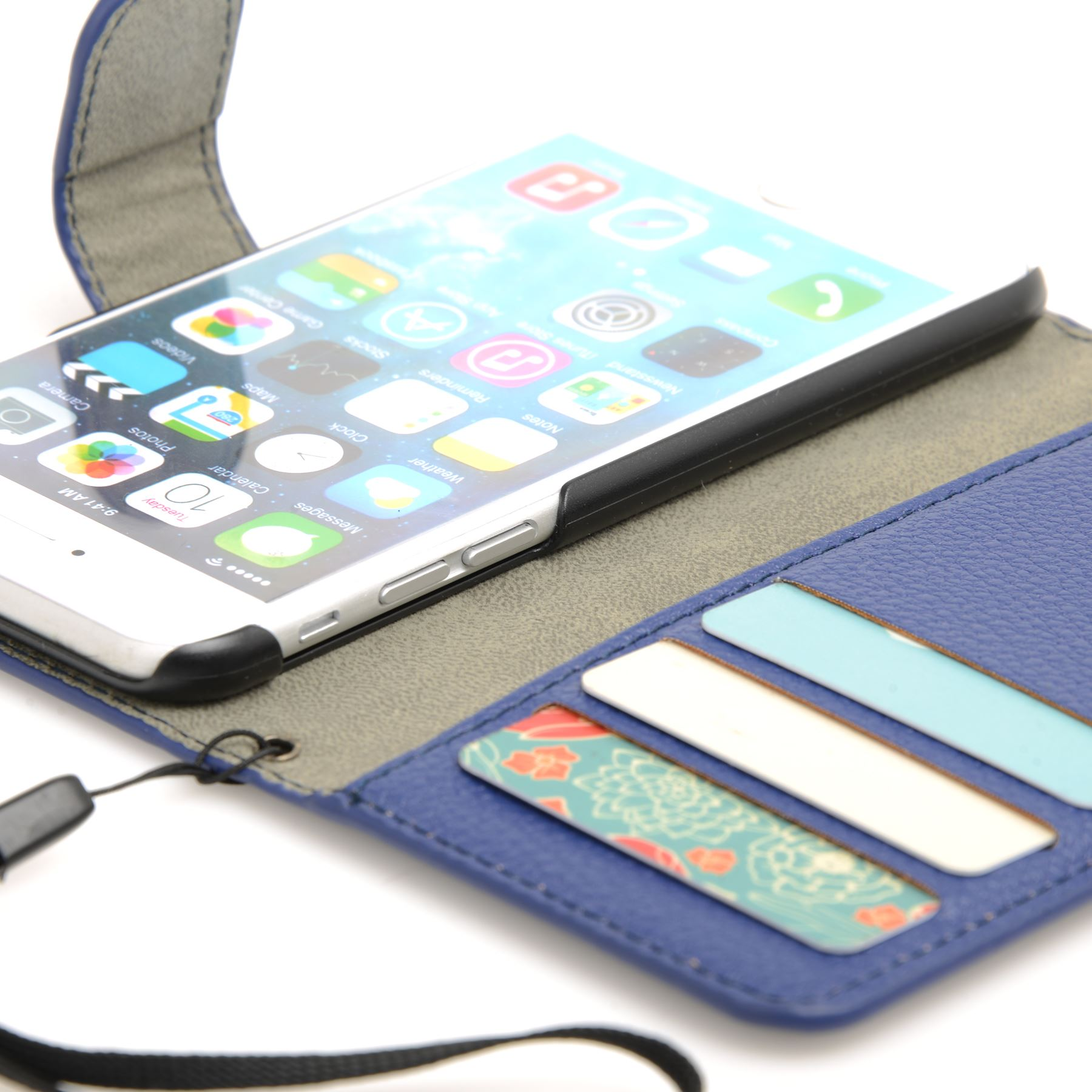 thumbnail 18 - For Apple iPhone 6s 6 Case Premium Textured Leather Wallet Madcase Cover
