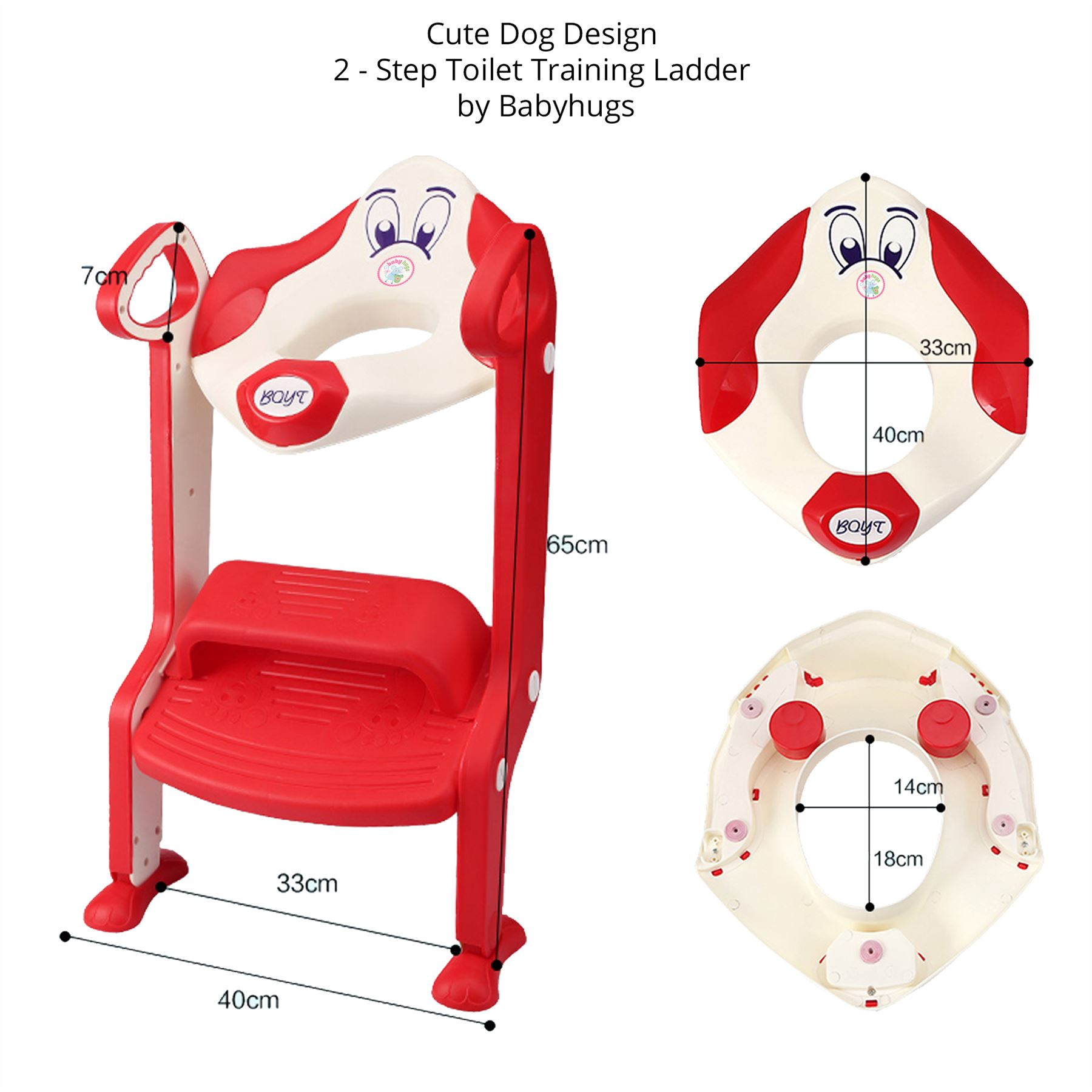 baby toddler toilet training potty seat 2 step ladder toilet trainer for child ebay. Black Bedroom Furniture Sets. Home Design Ideas