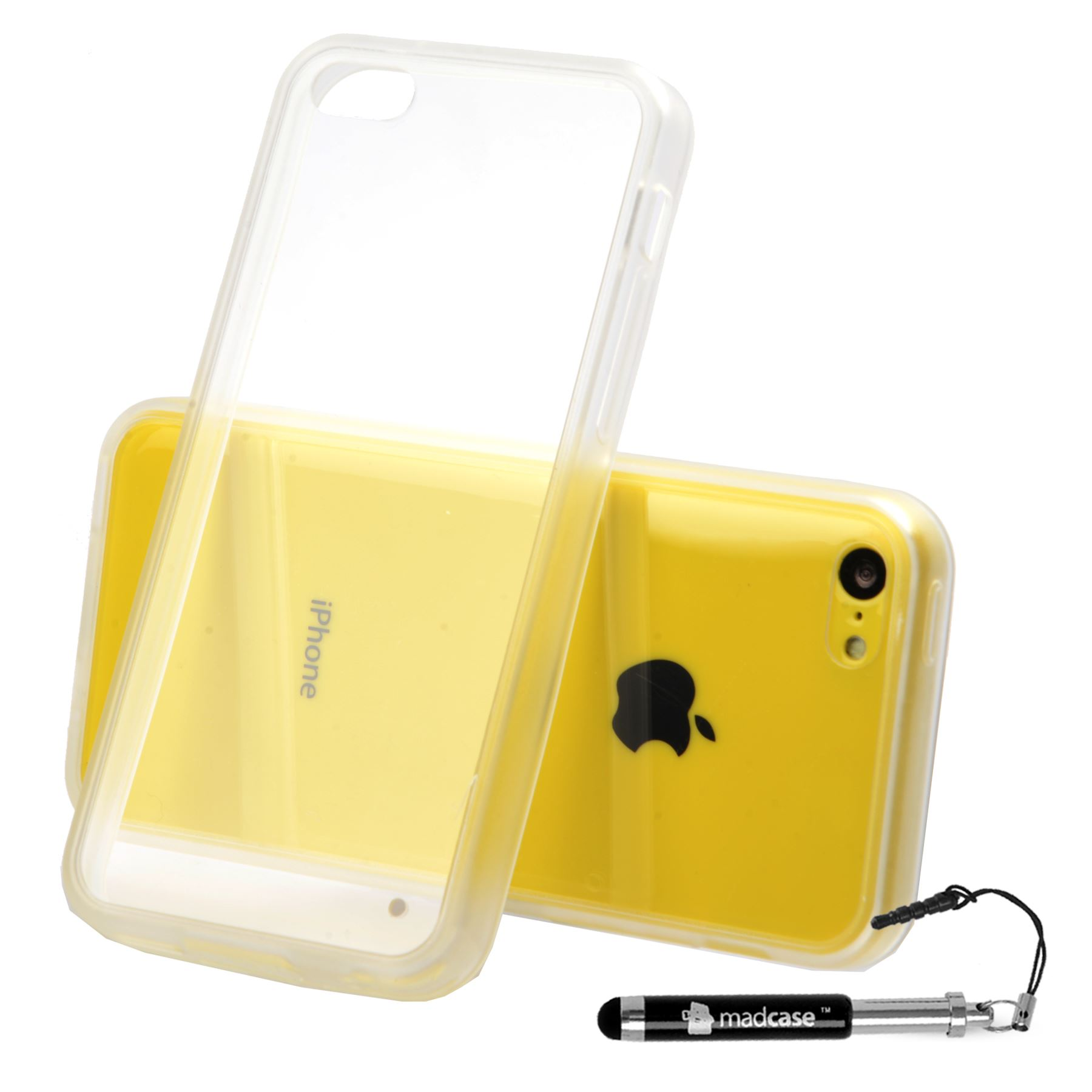 For Apple iPhone 5c Clear Case Ultra Thin Hard Case Back ...