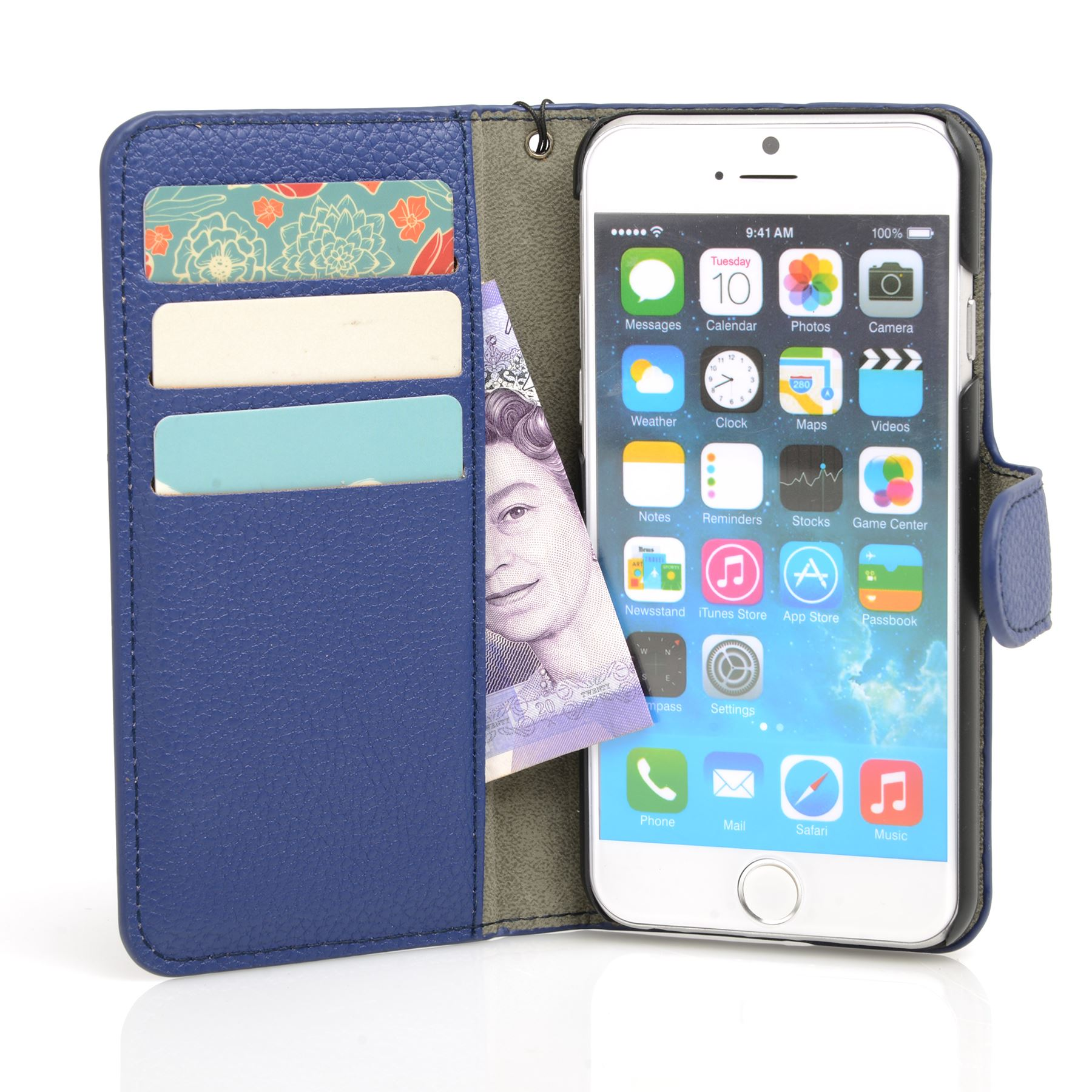 thumbnail 16 - For Apple iPhone 6s 6 Case Premium Textured Leather Wallet Madcase Cover