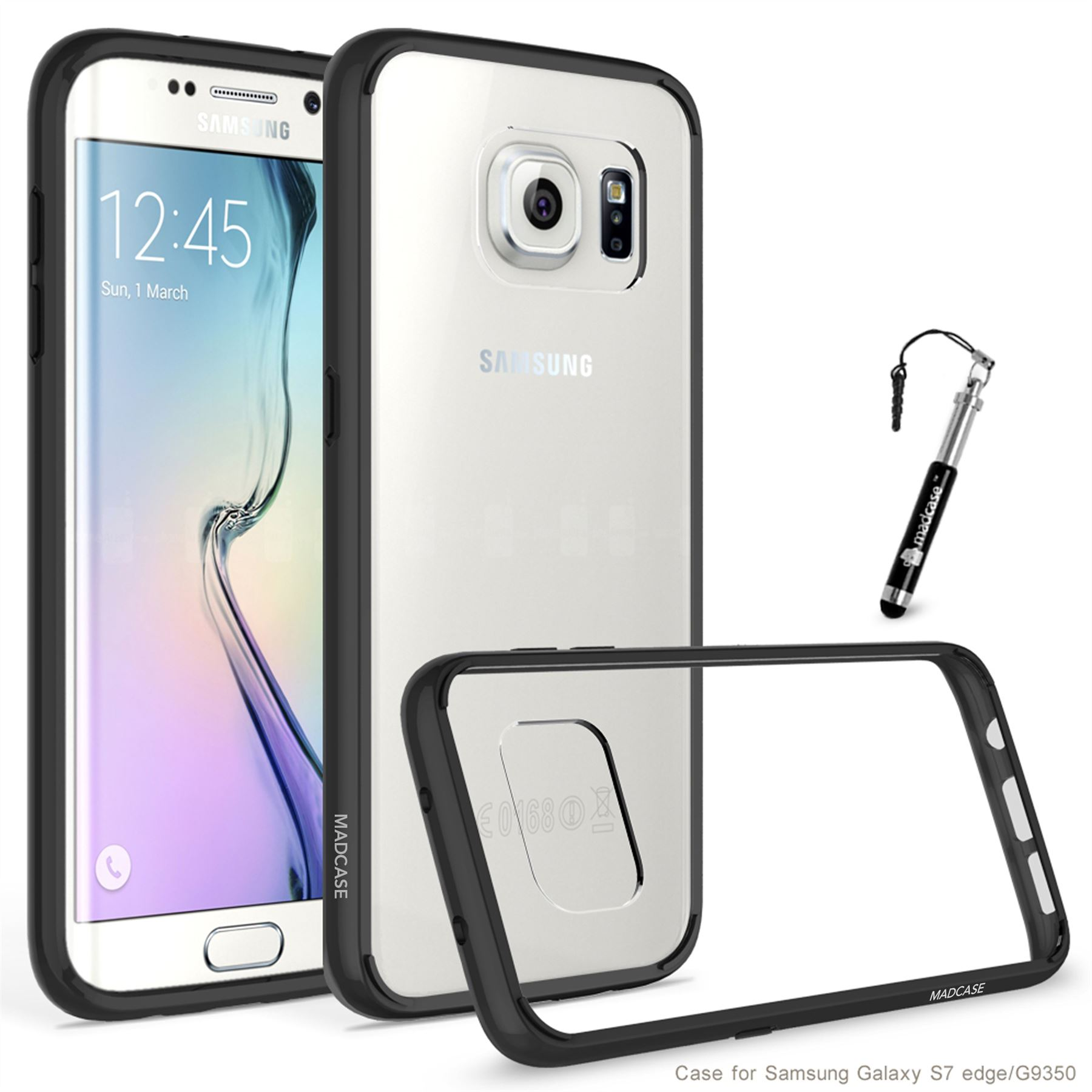 online store 7764e e2bb2 Details about Madcase Clear Scratch Resistant Transparent Back Case for  Samsung Galaxy S7 Edge