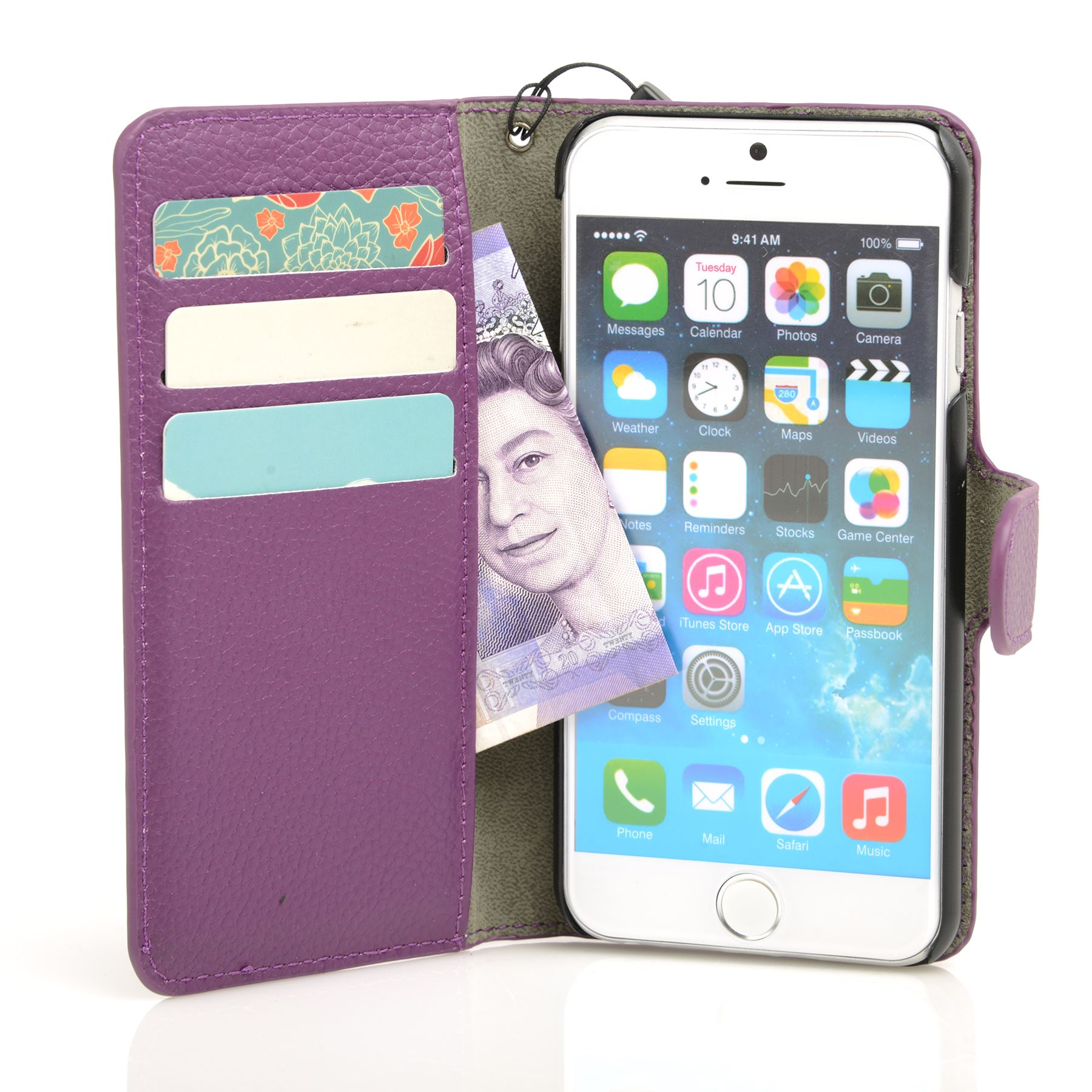 thumbnail 28 - For Apple iPhone 6s 6 Case Premium Textured Leather Wallet Madcase Cover