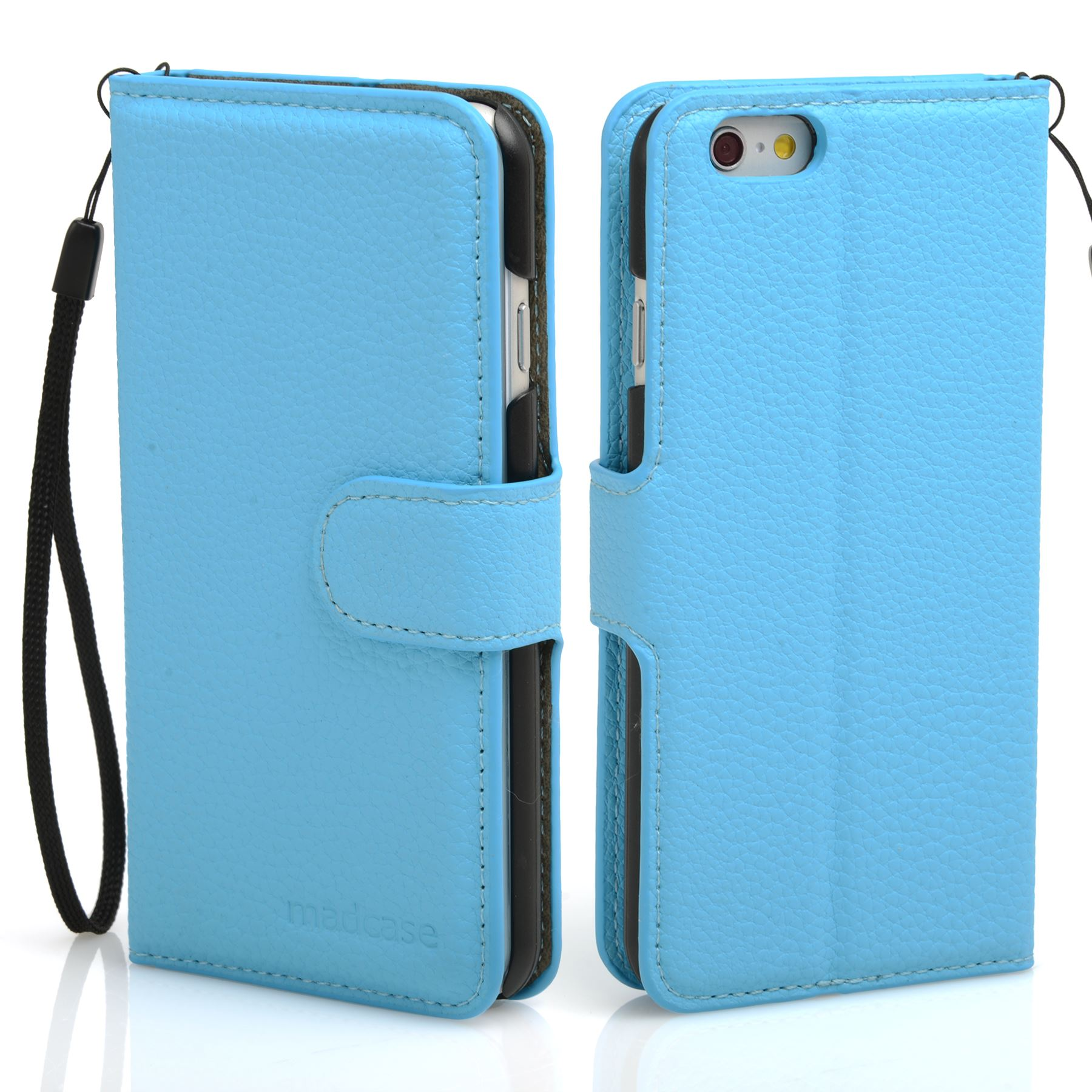 thumbnail 39 - For Apple iPhone 6s 6 Case Premium Textured Leather Wallet Madcase Cover