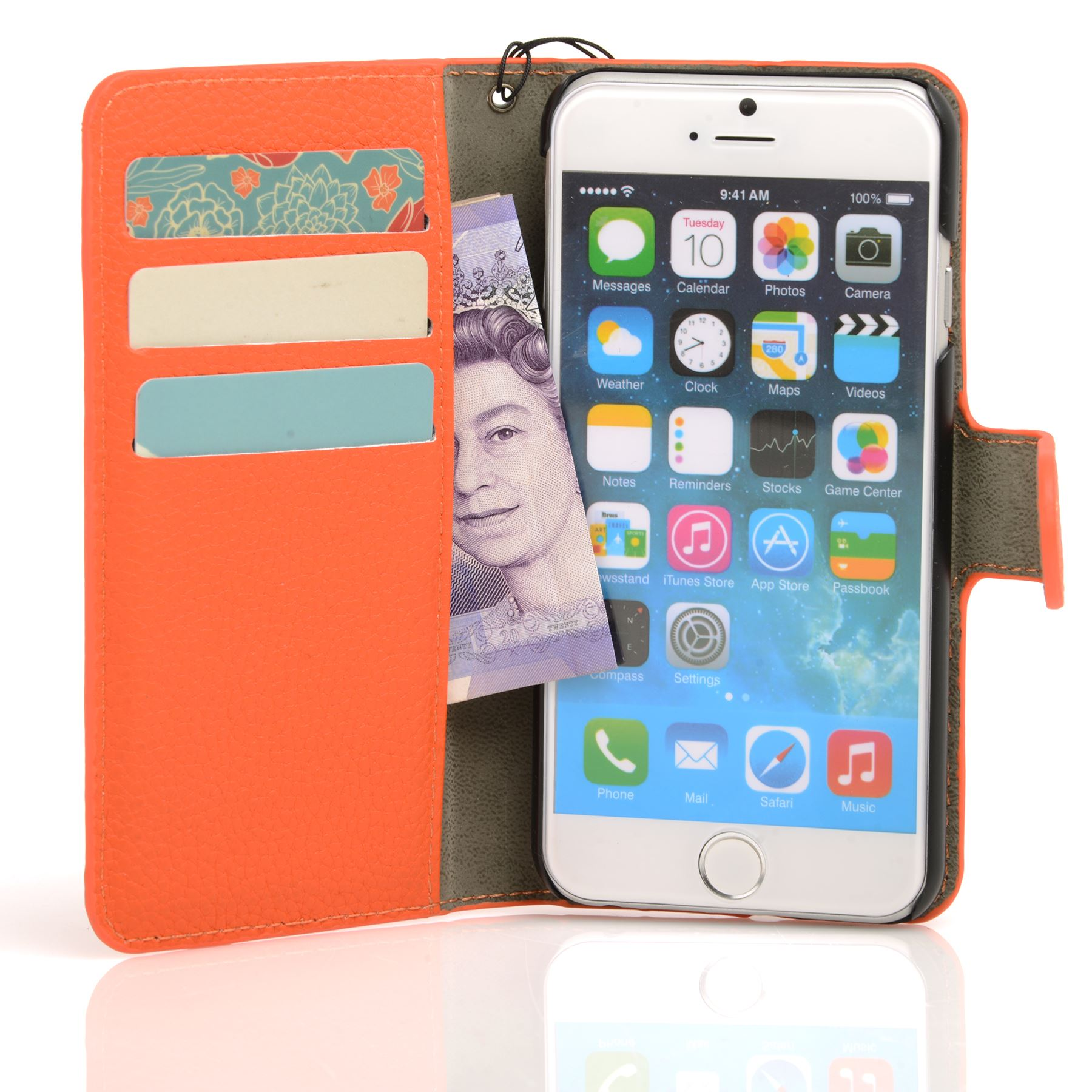 thumbnail 22 - For Apple iPhone 6s 6 Case Premium Textured Leather Wallet Madcase Cover