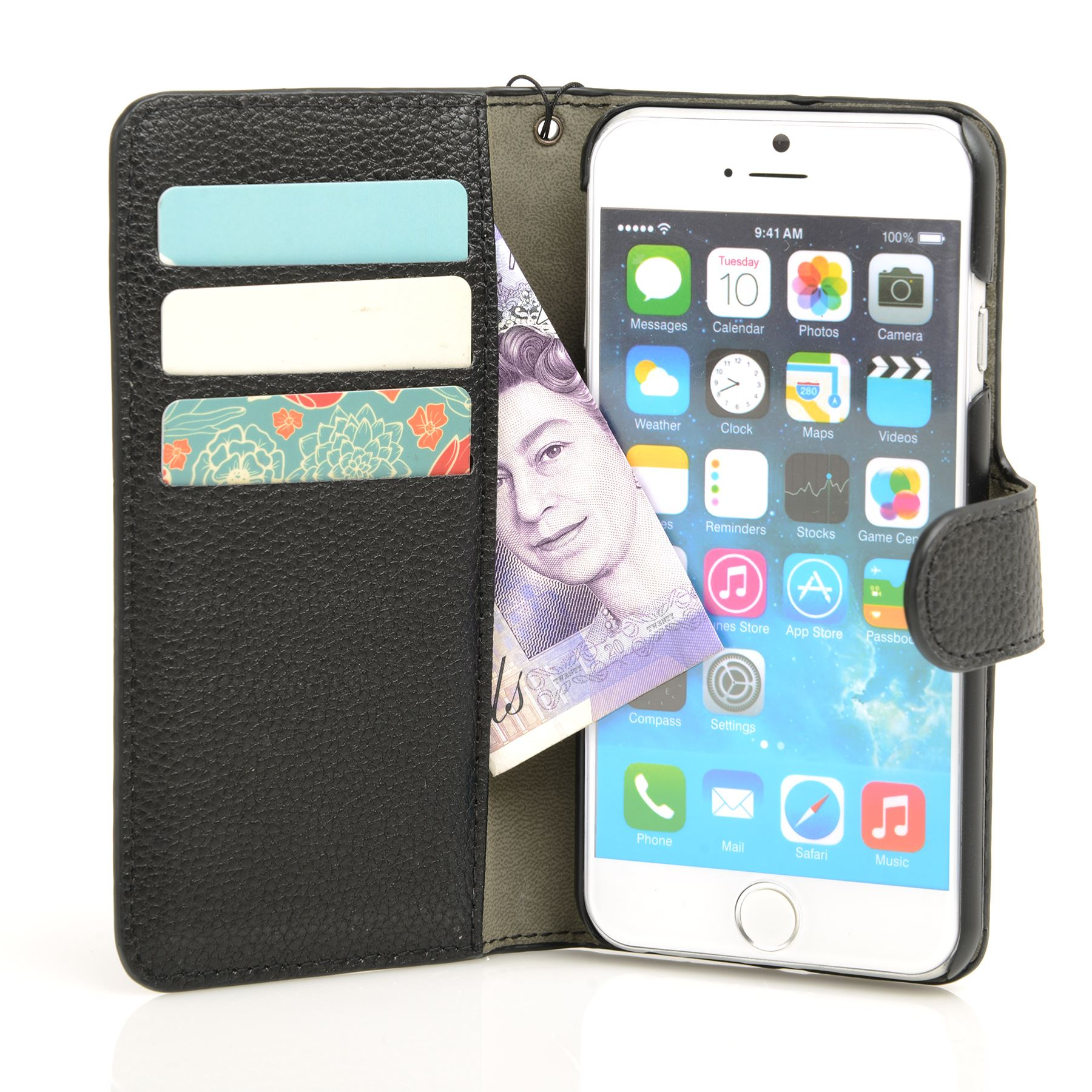thumbnail 10 - For Apple iPhone 6s 6 Case Premium Textured Leather Wallet Madcase Cover