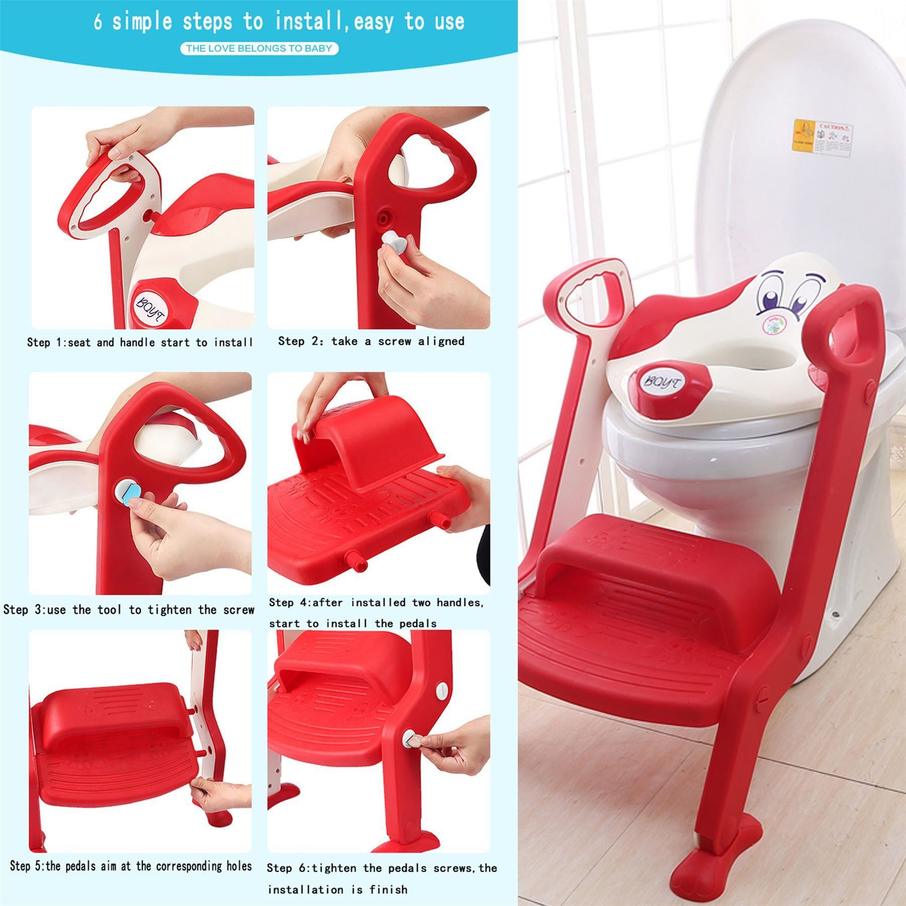 Baby Toddler Toilet Training potty Seat - 2 step Ladder Toilet ...