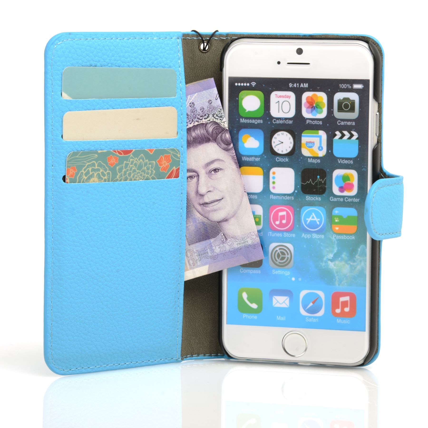 thumbnail 40 - For Apple iPhone 6s 6 Case Premium Textured Leather Wallet Madcase Cover
