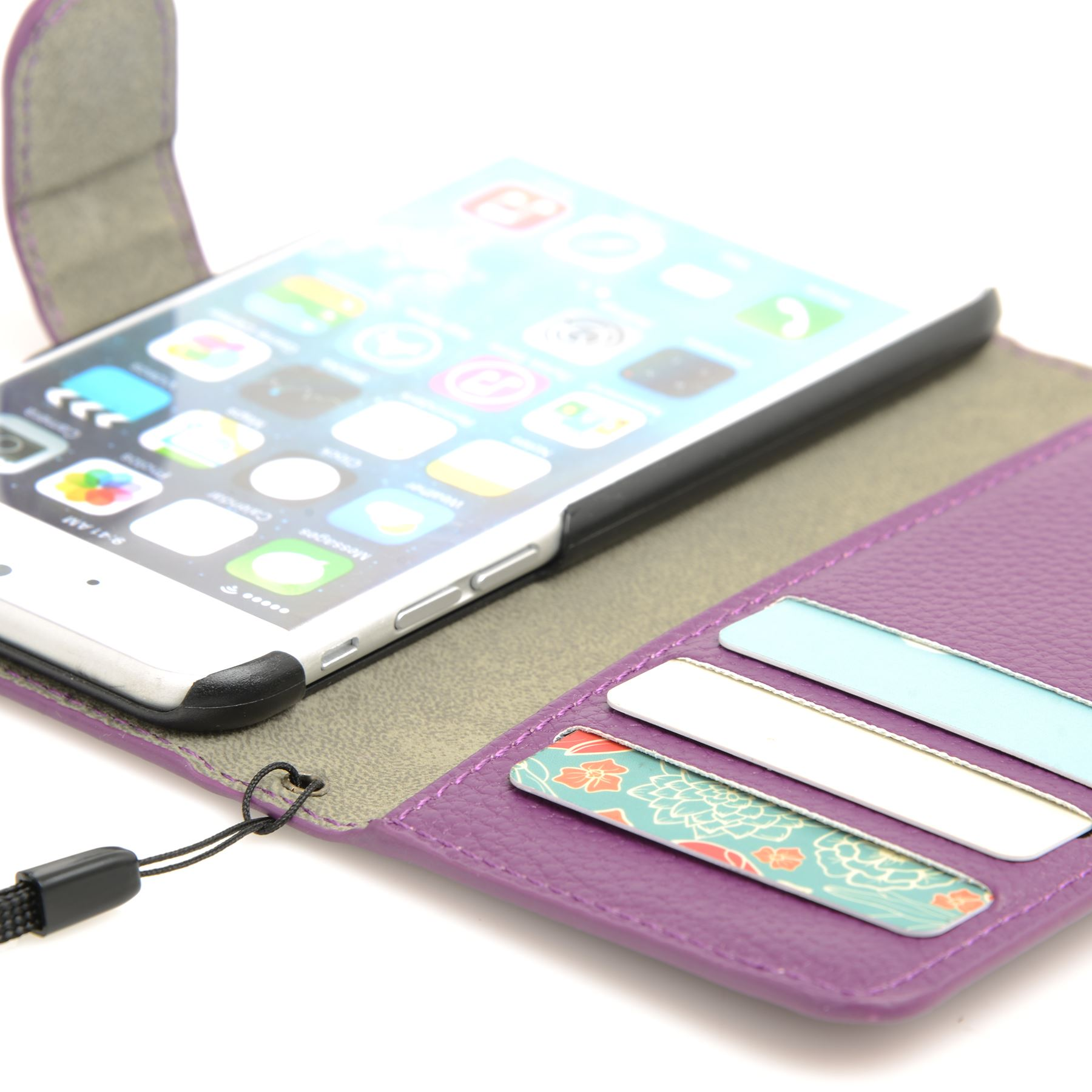 thumbnail 30 - For Apple iPhone 6s 6 Case Premium Textured Leather Wallet Madcase Cover