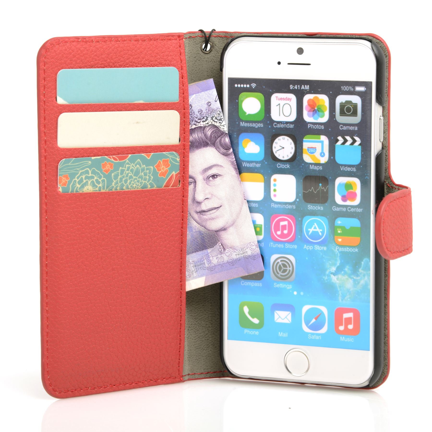thumbnail 34 - For Apple iPhone 6s 6 Case Premium Textured Leather Wallet Madcase Cover