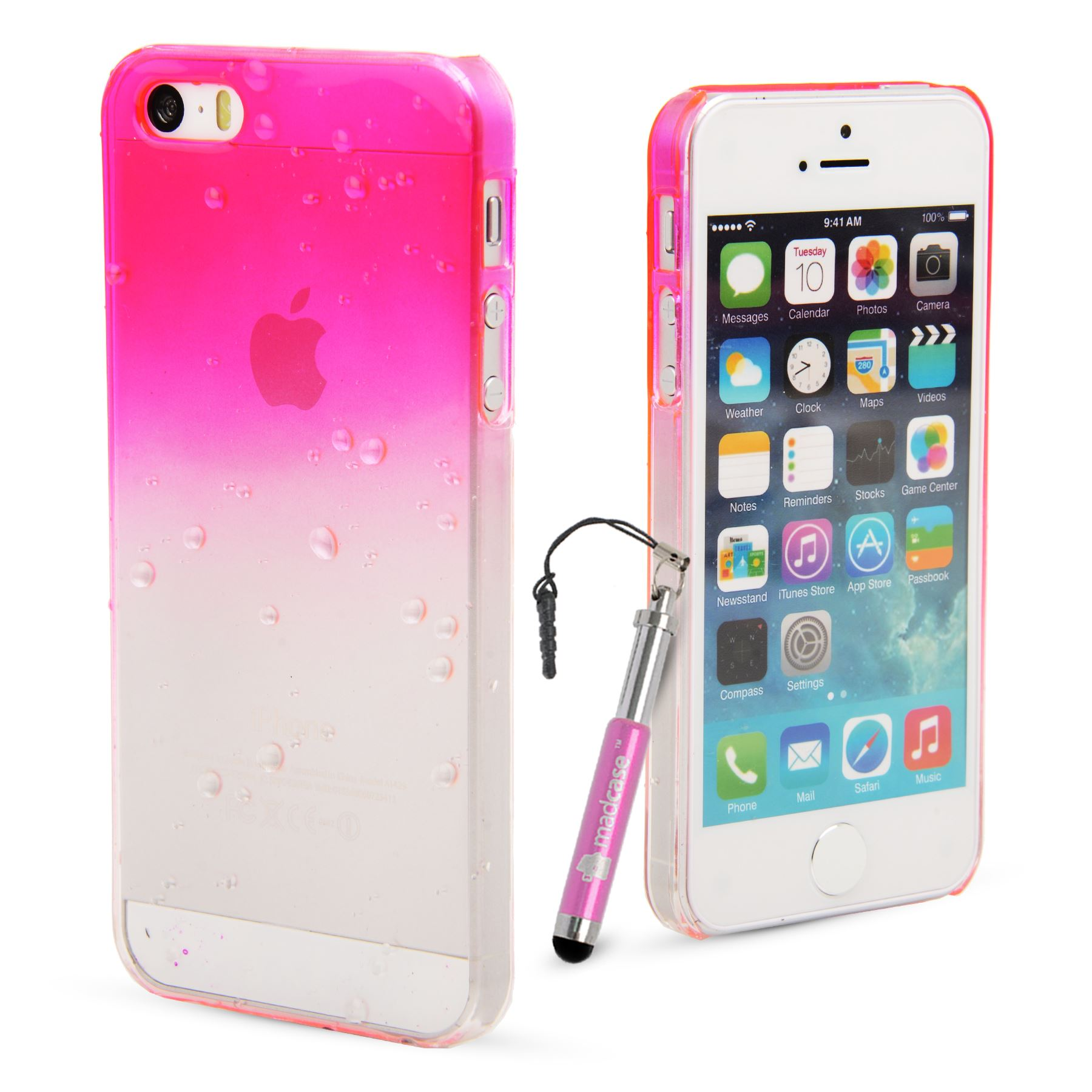 quality design b1341 0dcd0 Details about Slim 3d Clear Rain Water drop Hard Case Cover for Apple  iPhone 5s / 5