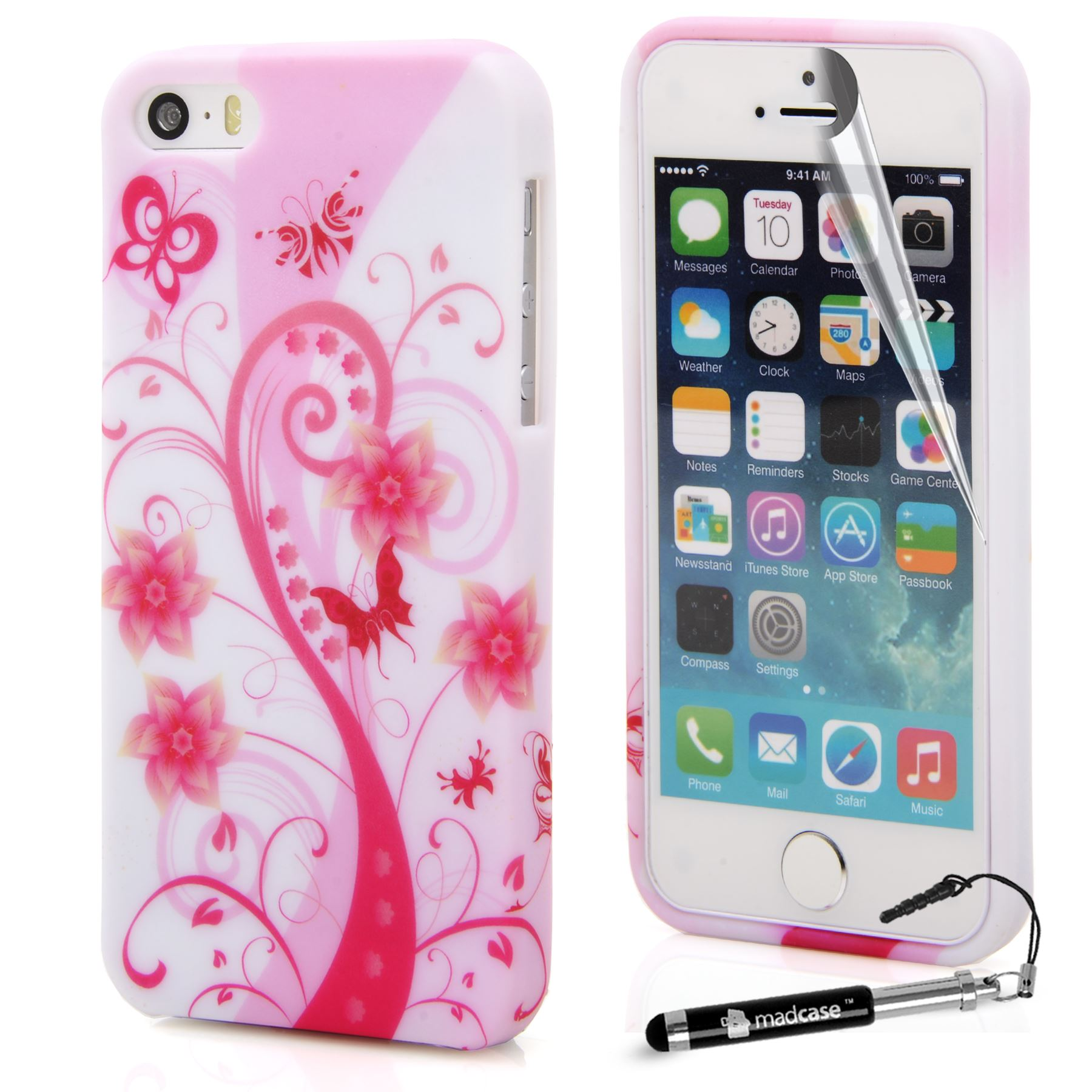 watch 6e152 f49d9 Details about For Apple iPhone SE 5S 5 Case Cool Designs Print Silicone Gel  Cover