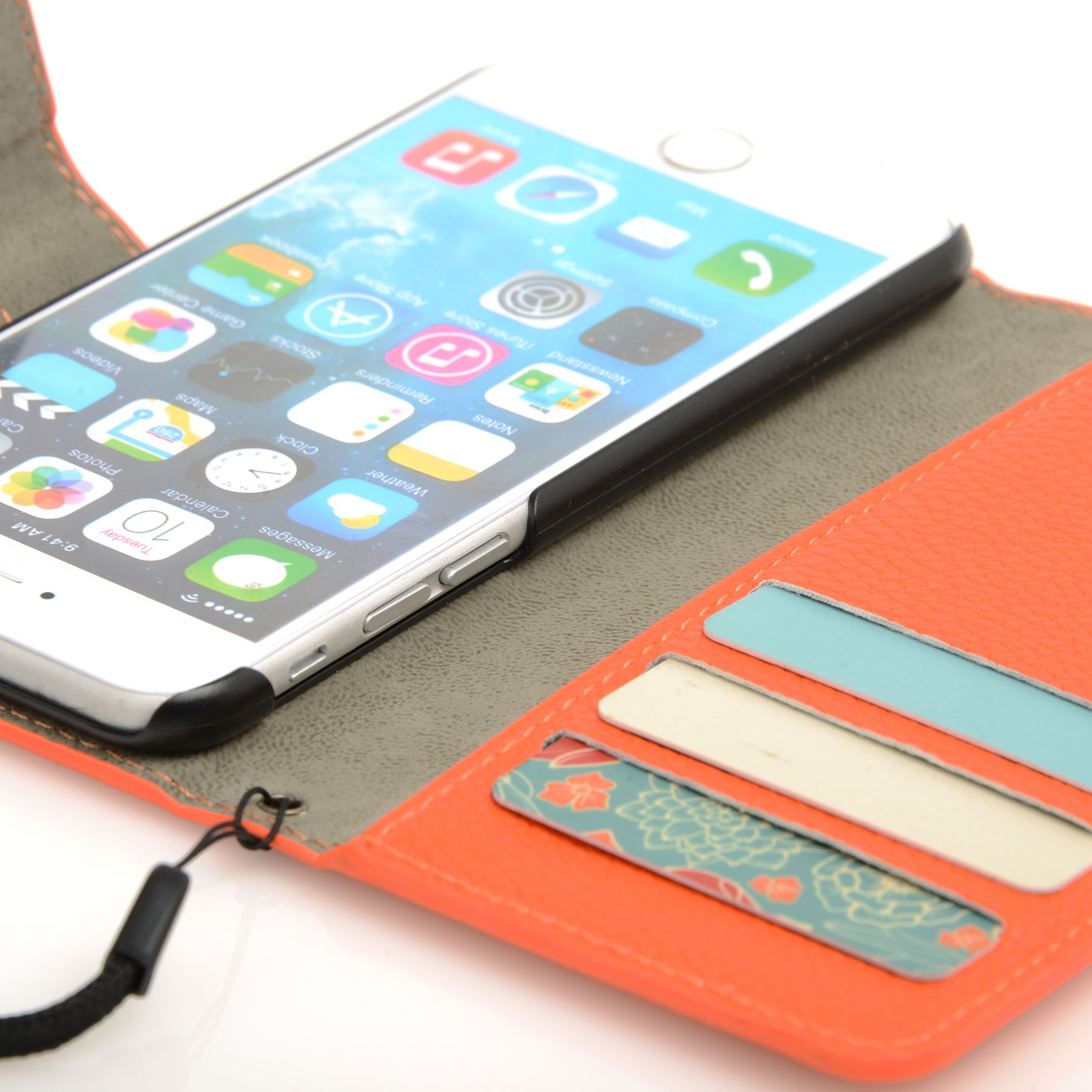 thumbnail 24 - For Apple iPhone 6s 6 Case Premium Textured Leather Wallet Madcase Cover
