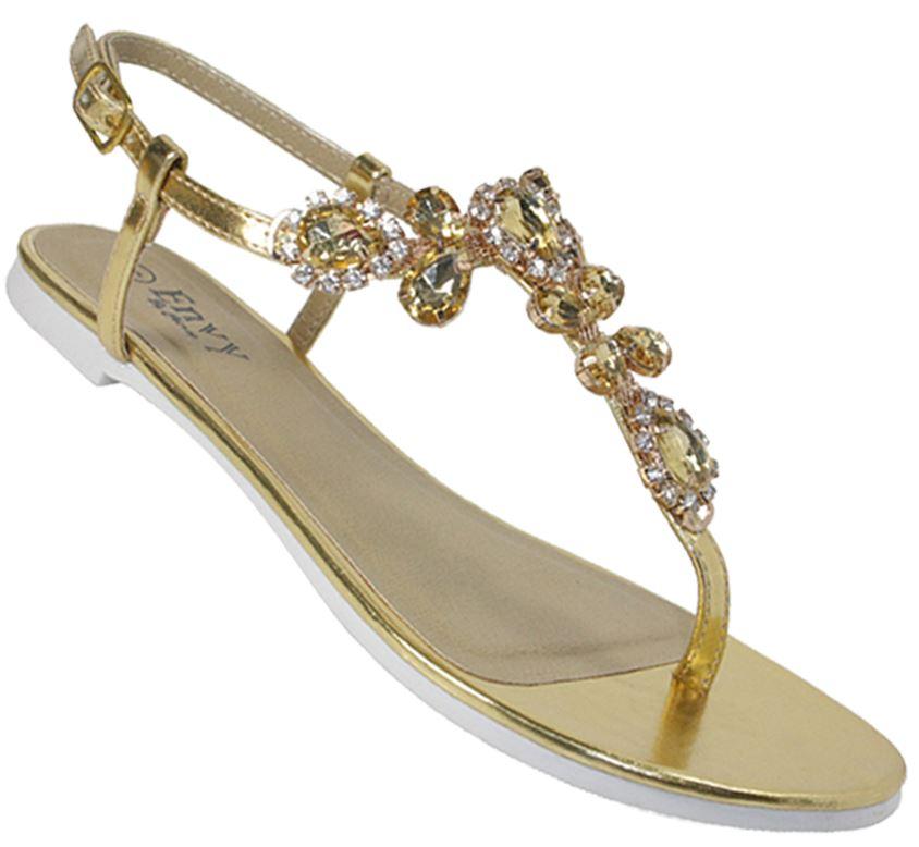 b0397c0c41a Ladies Womens Jewel diamante toe post sandal low heel sling back party shoes