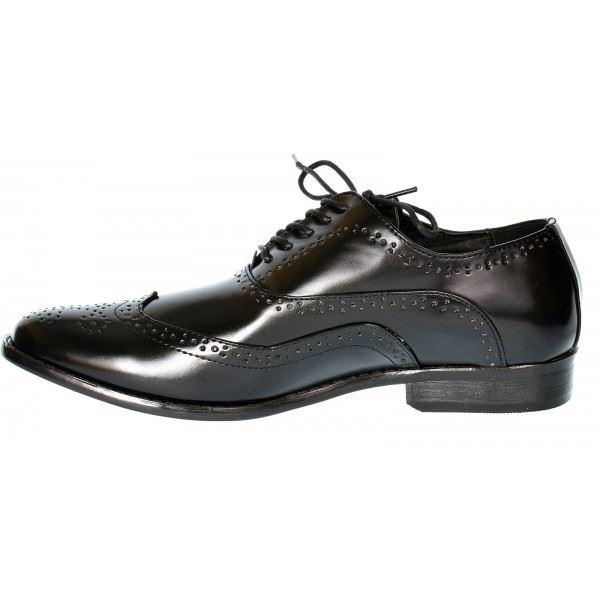 Mens Smart Shoes Wedding Italian Formal Office Work Brogues Black