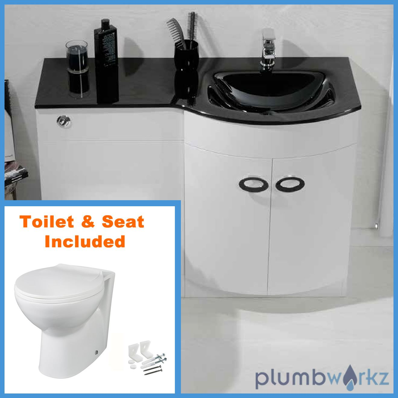 Bathroom sink and vanity unit - D Shape Bathroom Vanity Unit Basin Sink Bathroom