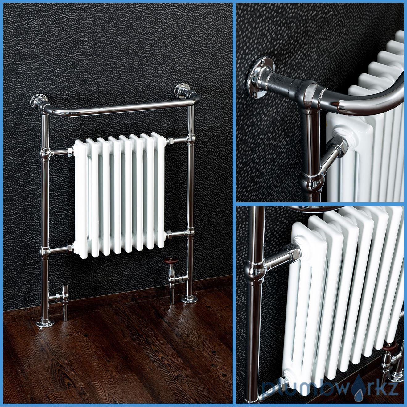 Traditional Victorian Chrome Heated Bathroom Towel Rail ...