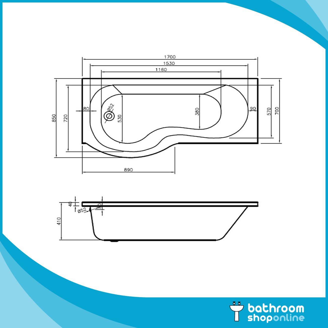 Shower Screen For P Shaped Bath P Shaped Bathroom Suite 1700mm Bath Modern Trim Basin