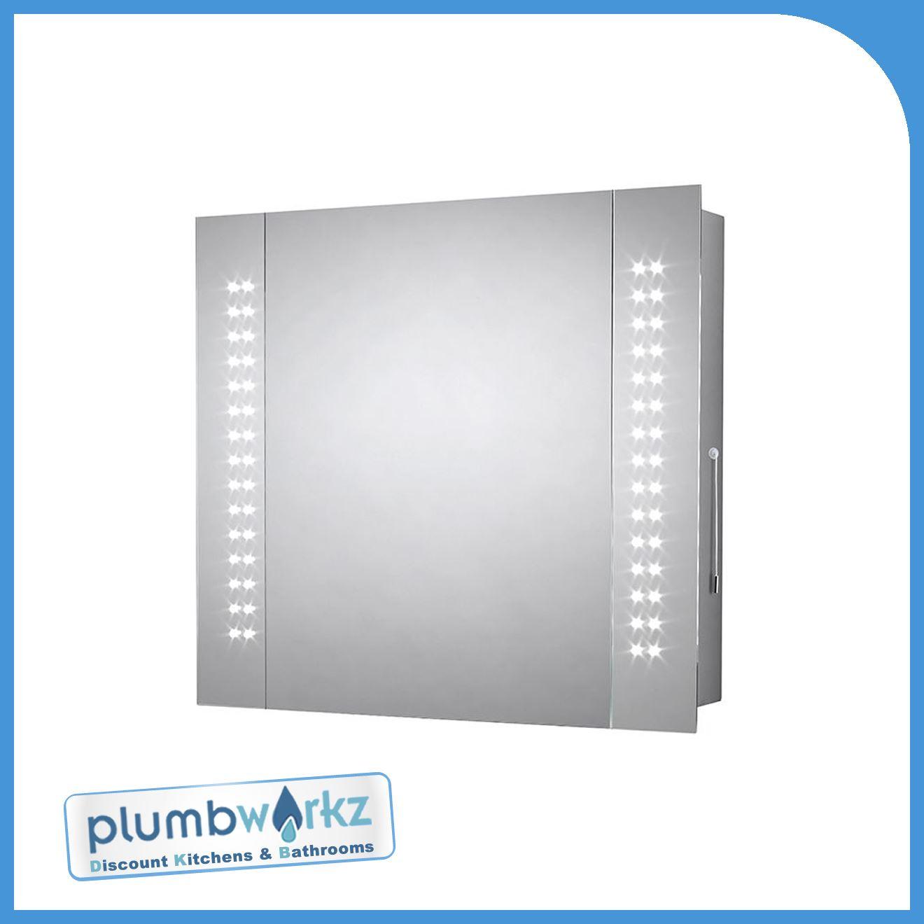 Modern Led Illuminated Bathroom Mirror Bluetooth Demister Cabinet ...
