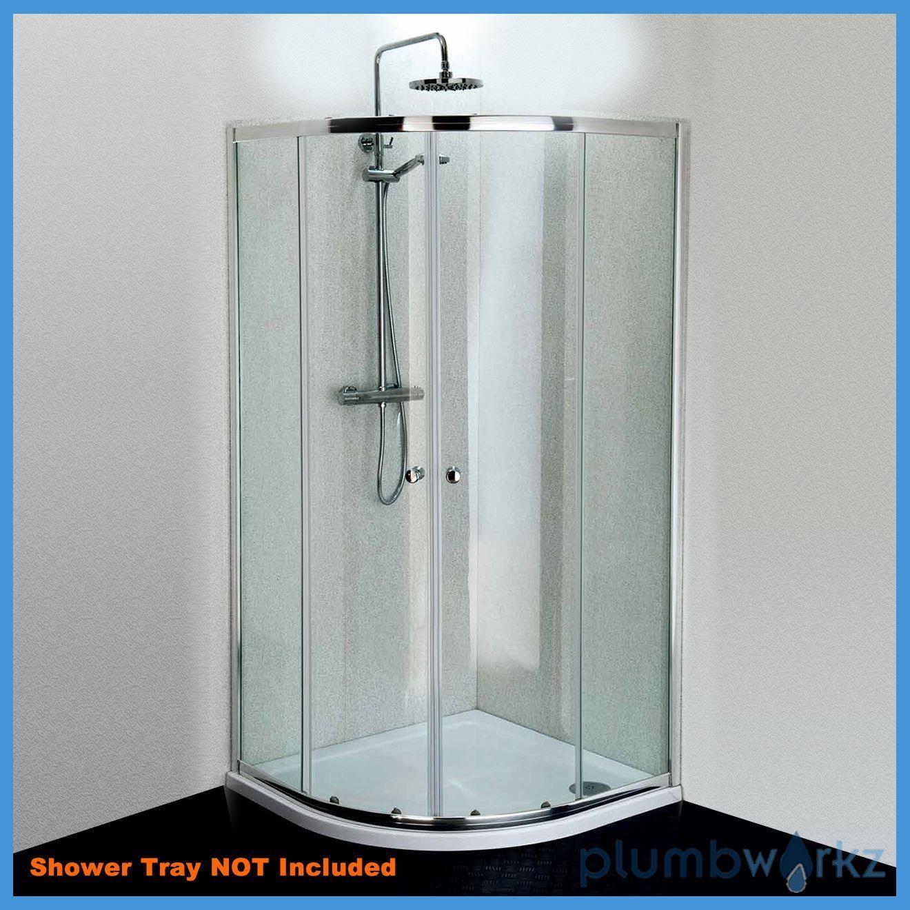 Chrome Quadrant 800mm 900mm Shower Enclosure Cubicle Glass Door