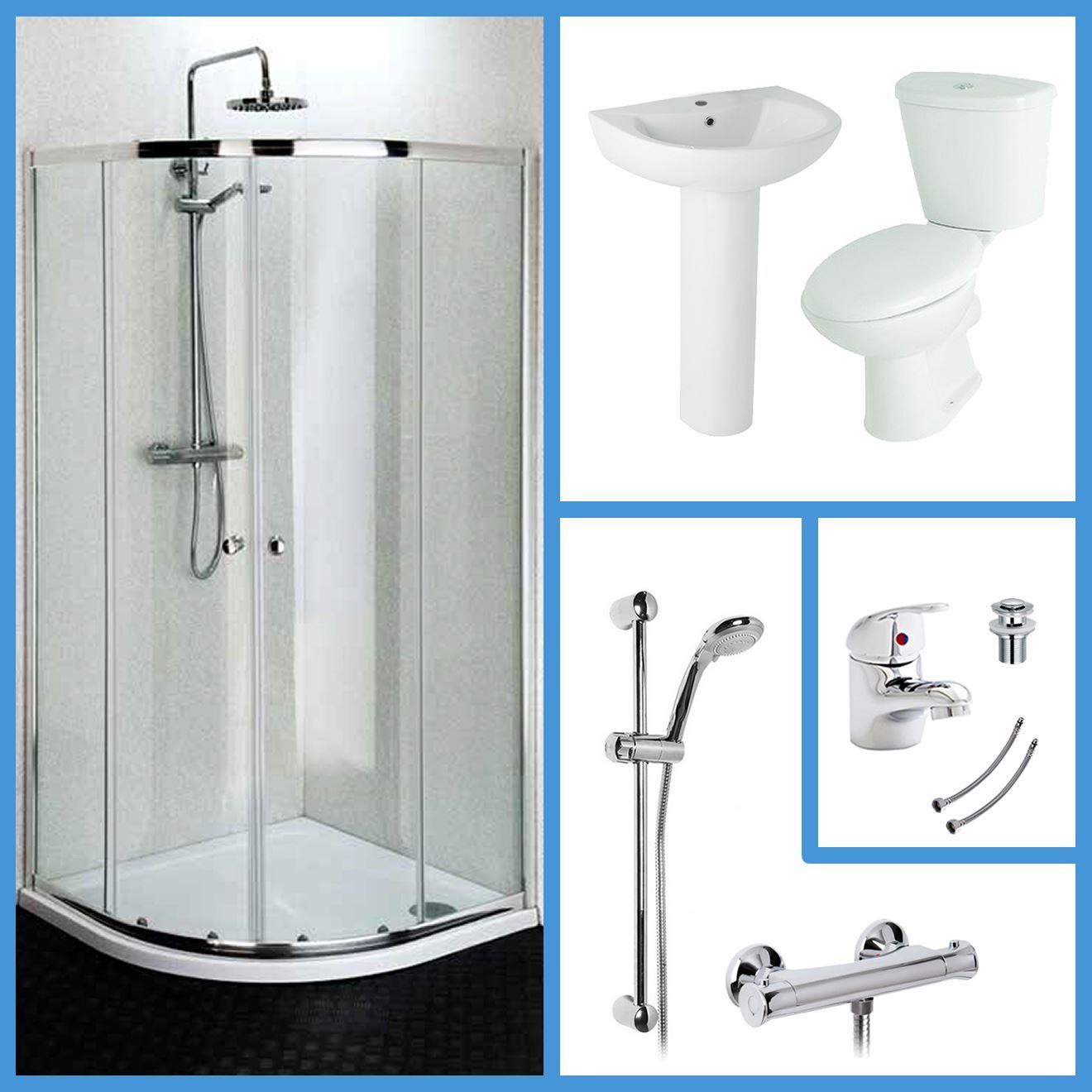 Bathroom suites with shower enclosures - 1200x800 Quadrant Shower Enclosure Basin Toilet Bathroom Suite