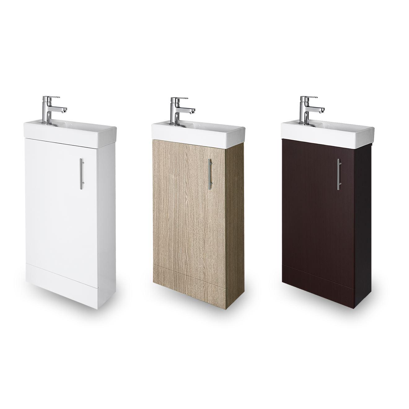 400mm bathroom vanity unit cloakroom compact basin sink. Black Bedroom Furniture Sets. Home Design Ideas
