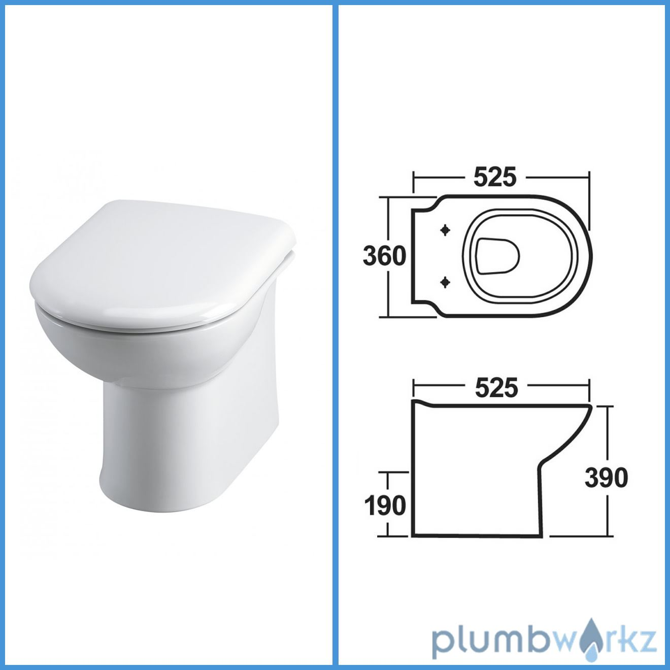 Square Back Toilet Seat HOME Square Back Thermoplastic Slow Close